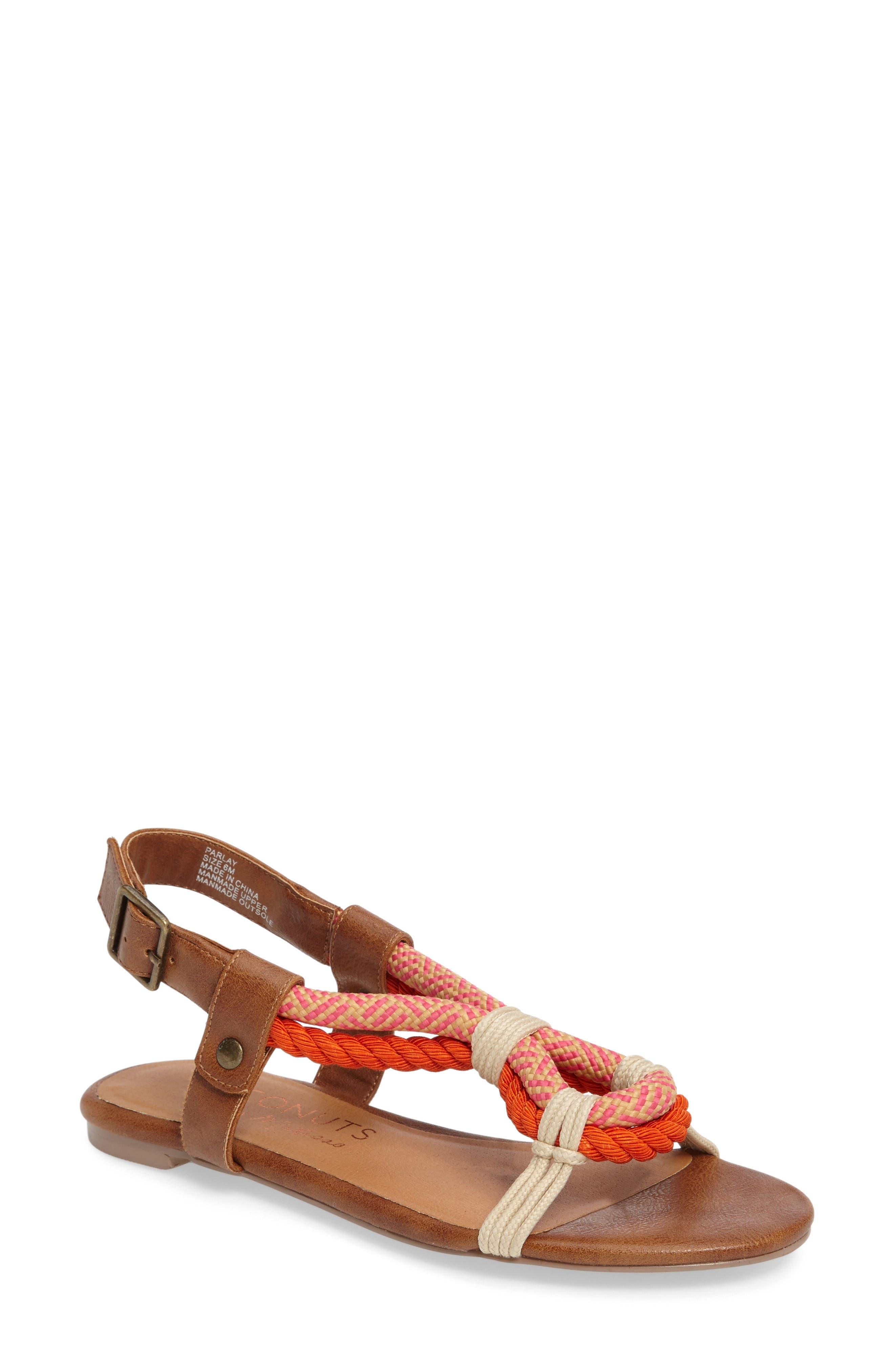 Matisse Parlay Sandal,                         Main,                         color, Tan Fabric