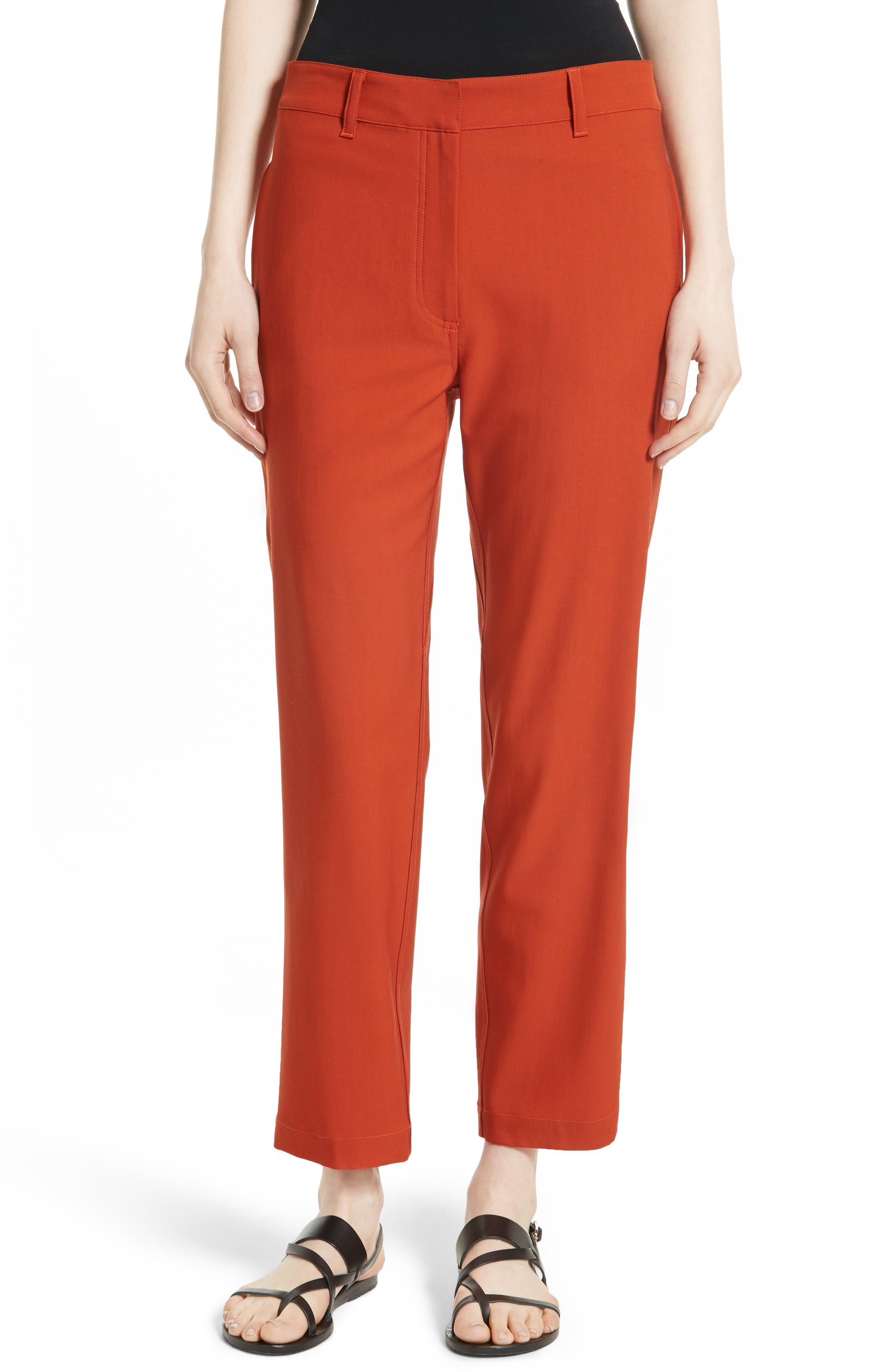 Thorelle B New Stretch Wool Pants,                         Main,                         color, Dark Marmalade