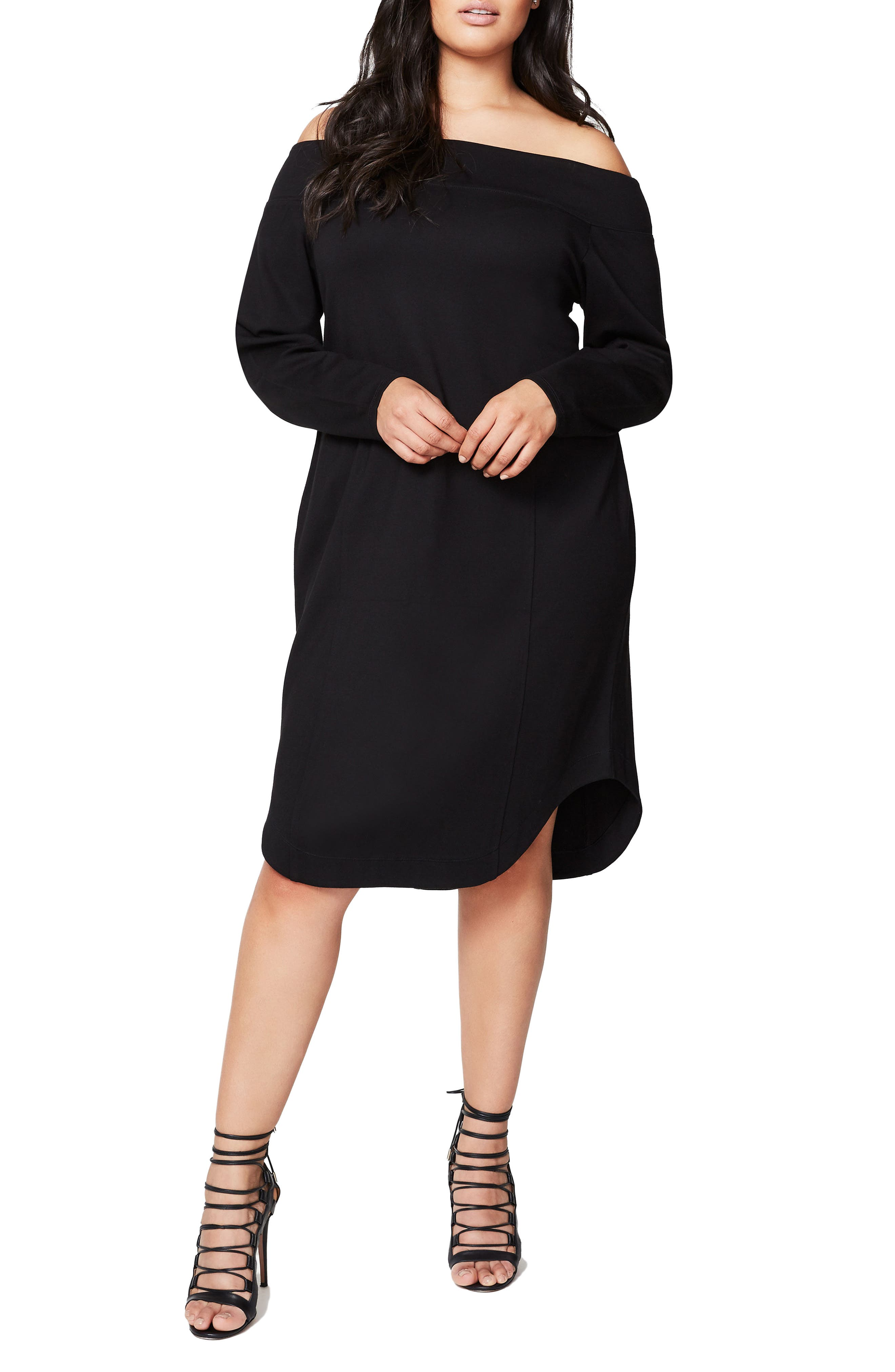 RACHEL Rachel Roy Off the Shoulder Ponte Dress (Plus Size)
