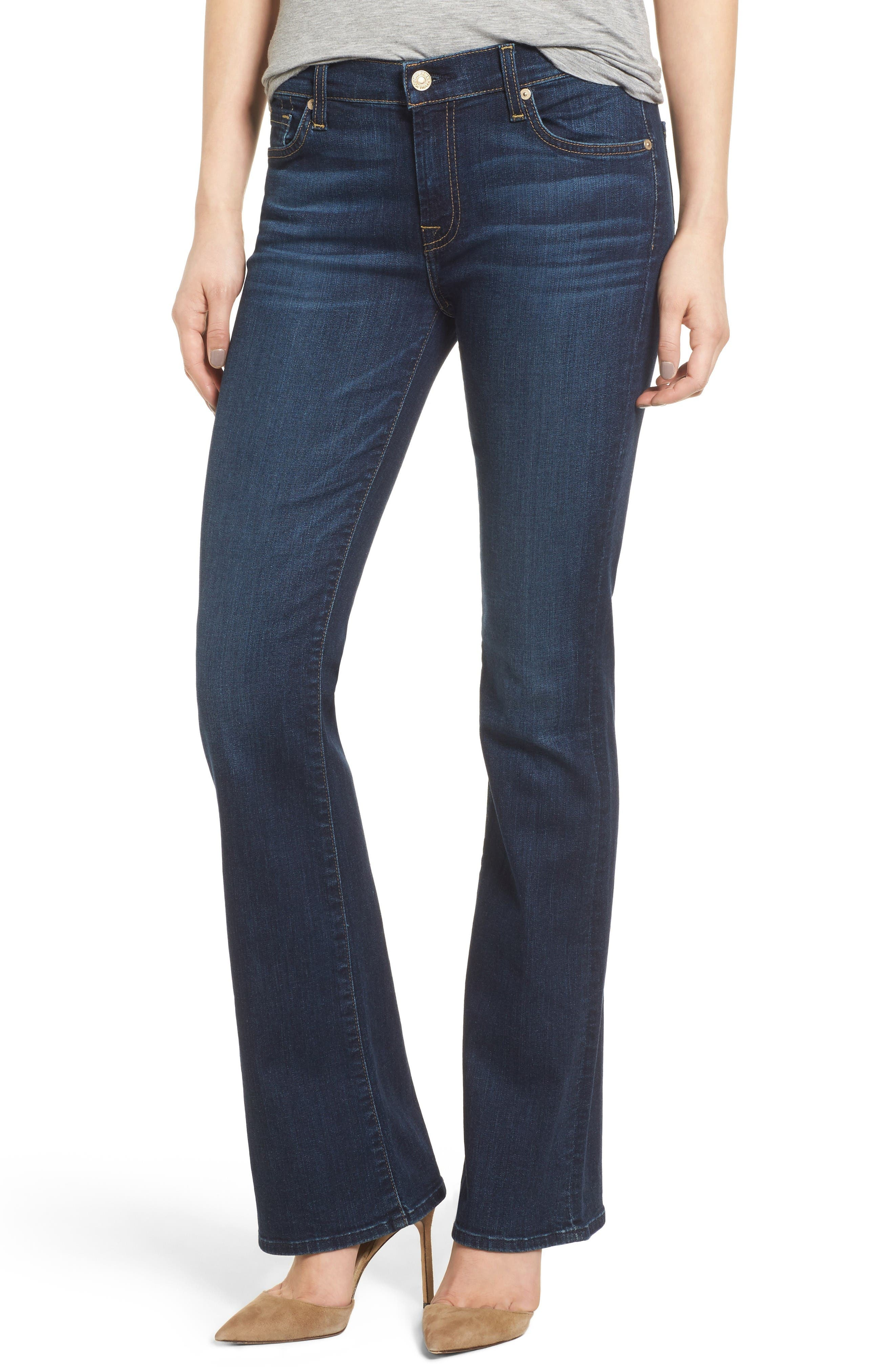 Main Image - 7 For All Mankind® Tailorless - Icon Bootcut Jeans (Santiago Canyon) (Short)