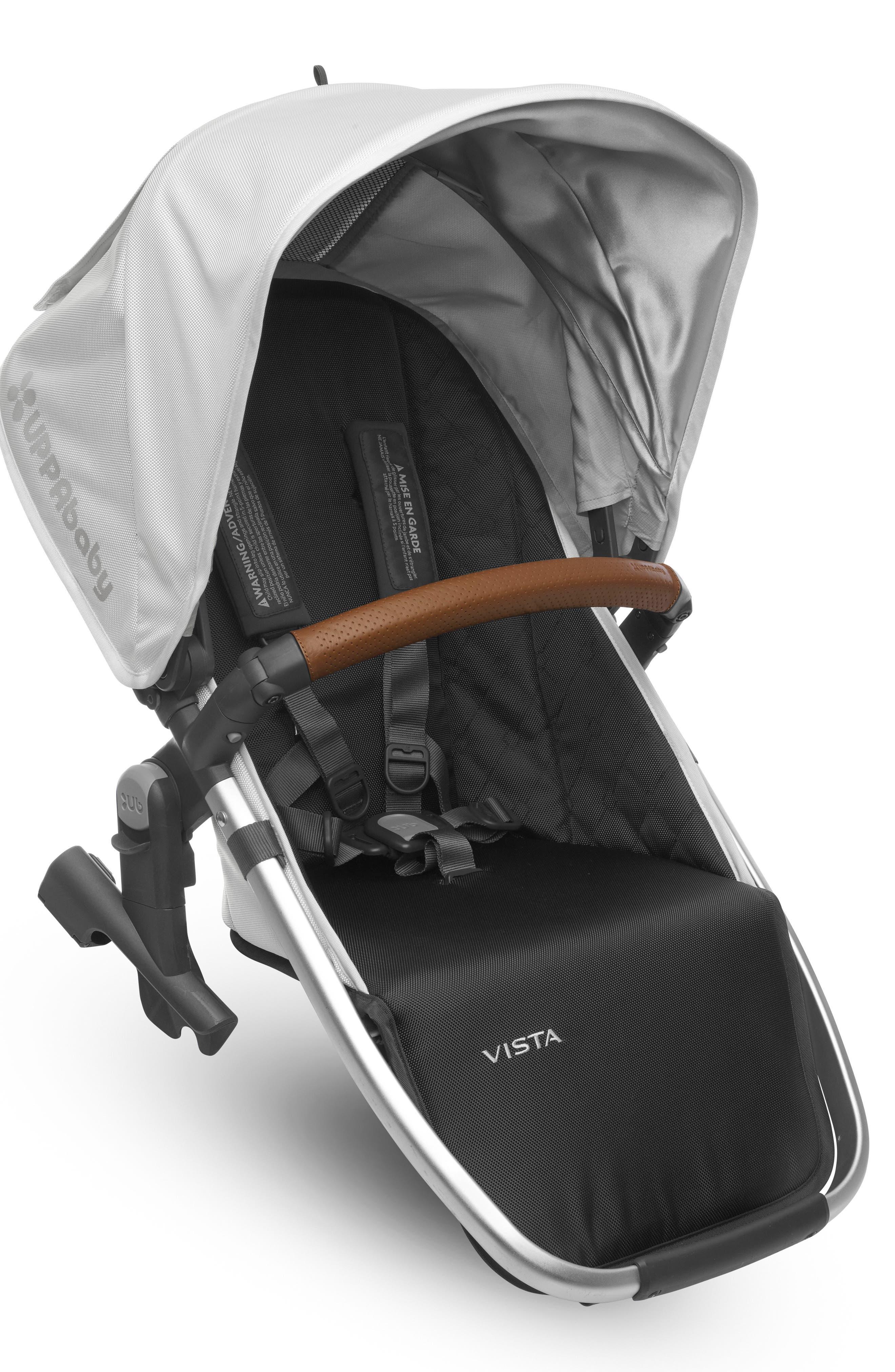 VISTA Stroller Rumble Seat,                             Main thumbnail 1, color,                             White/ Silver