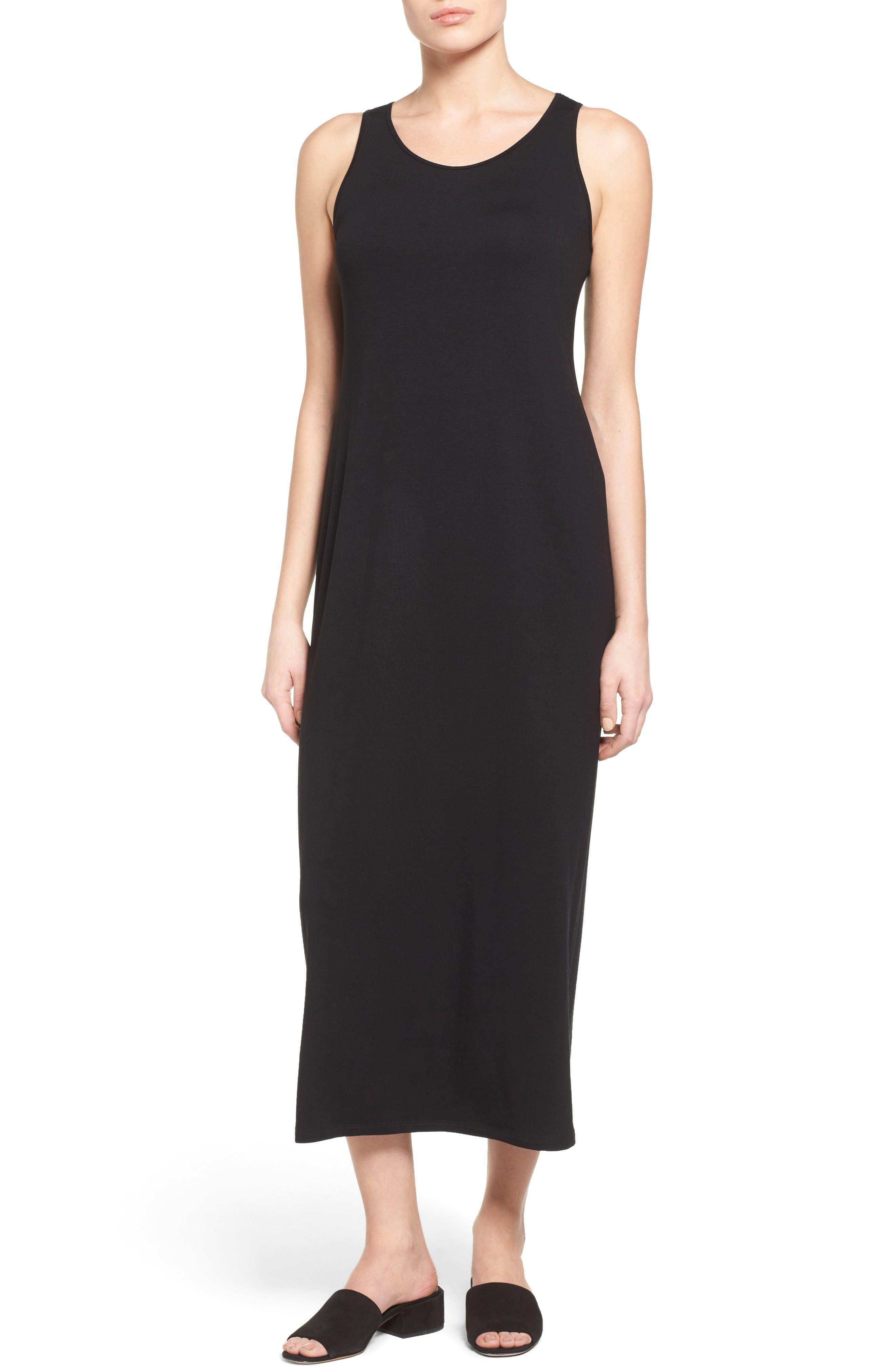 Alternate Image 1 Selected - Eileen Fisher Midi Tank Dress (Regular & Petite)