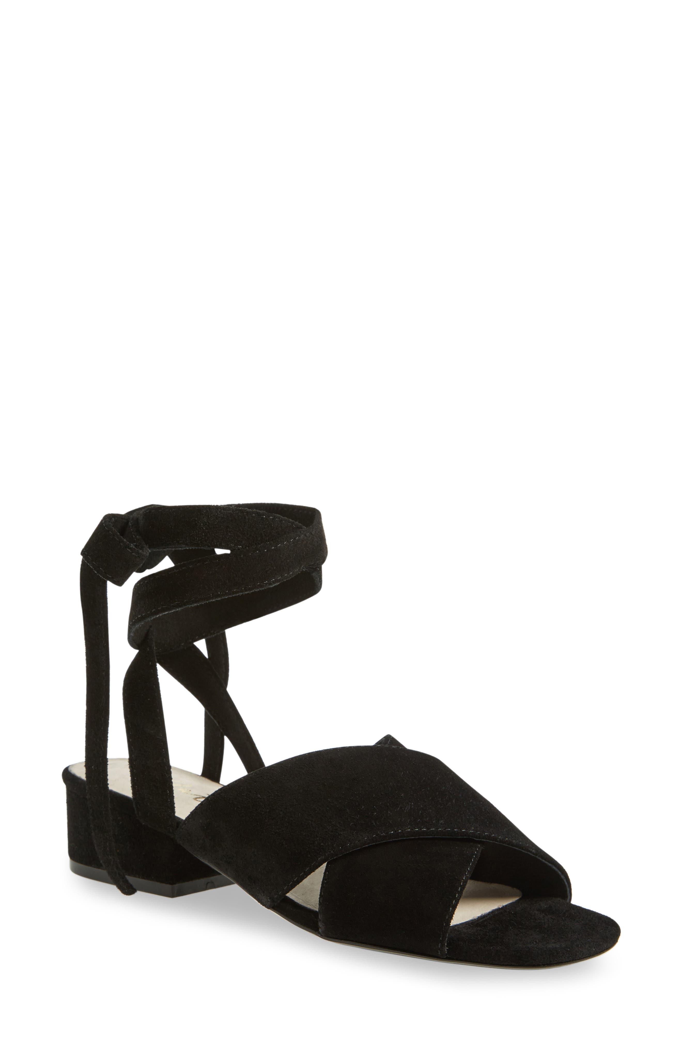 Frenzy Sandal,                         Main,                         color, Black Suede
