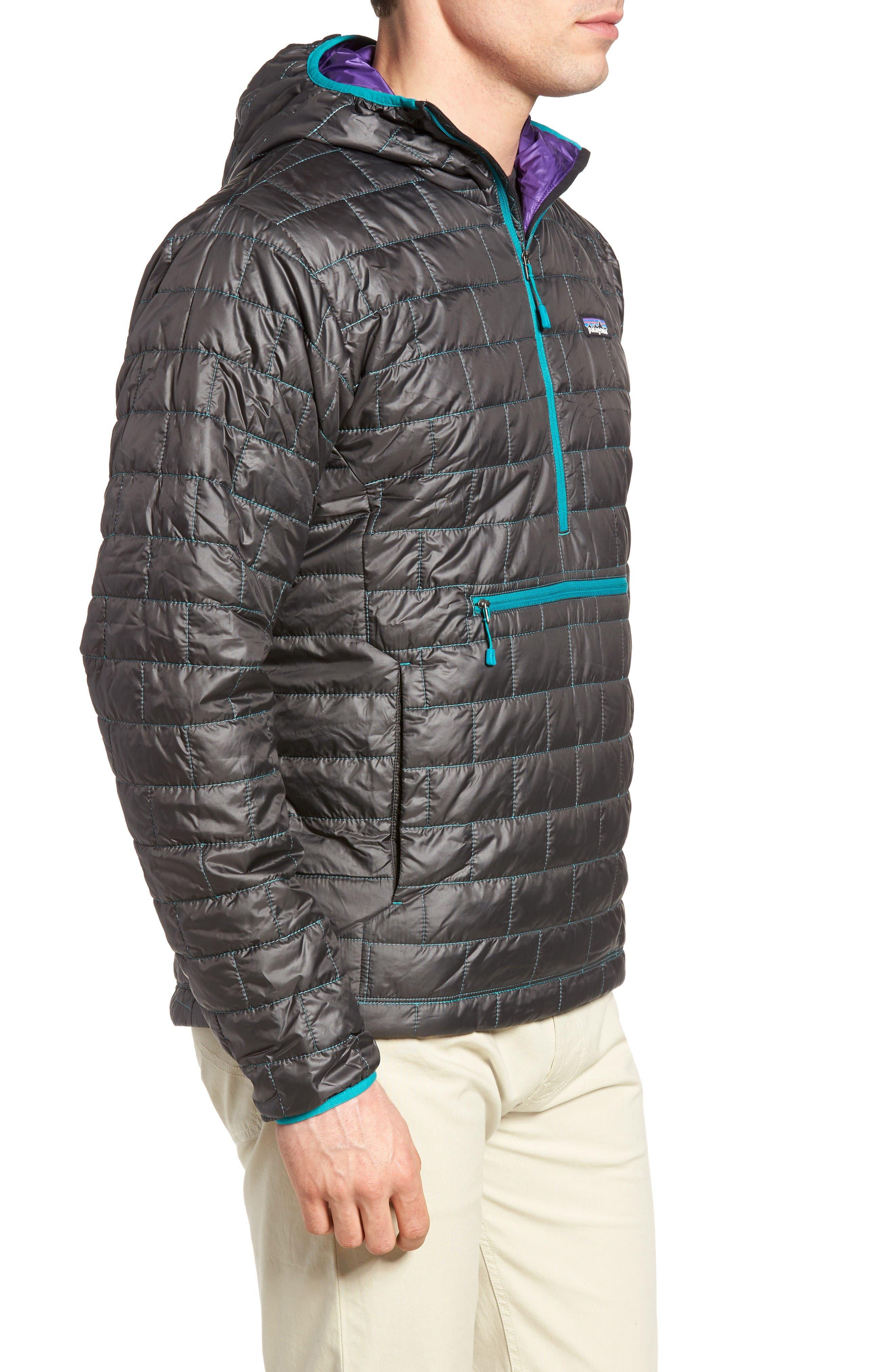 Nano Puff<sup>®</sup> Bivy Regular Fit Water Resistant Jacket,                             Alternate thumbnail 3, color,                             Black