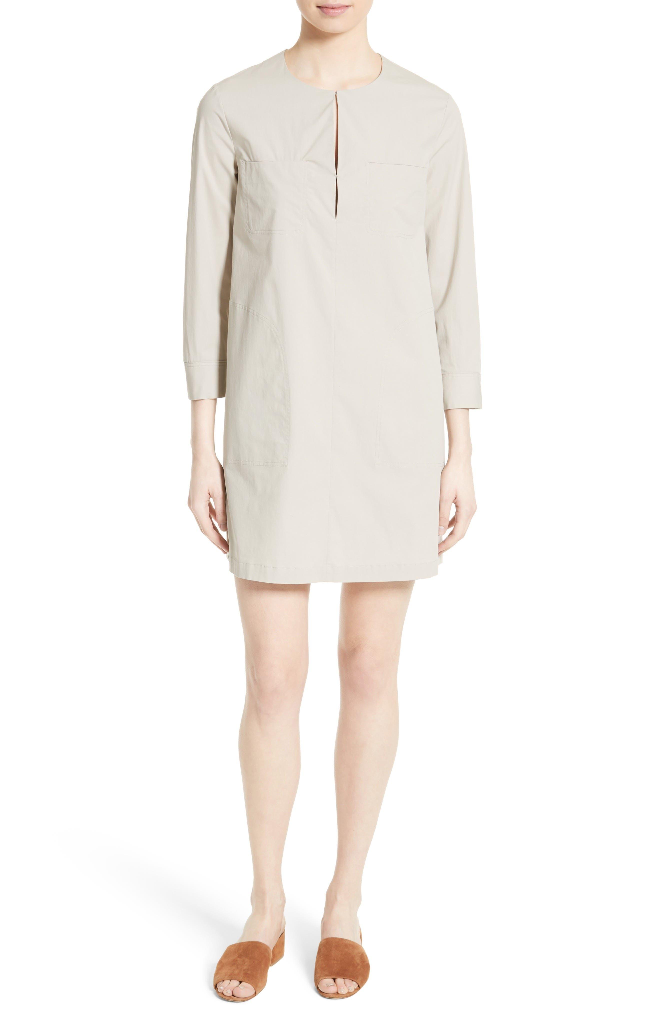 Jullitah B Poplin Shirtdress,                         Main,                         color, Light Clay