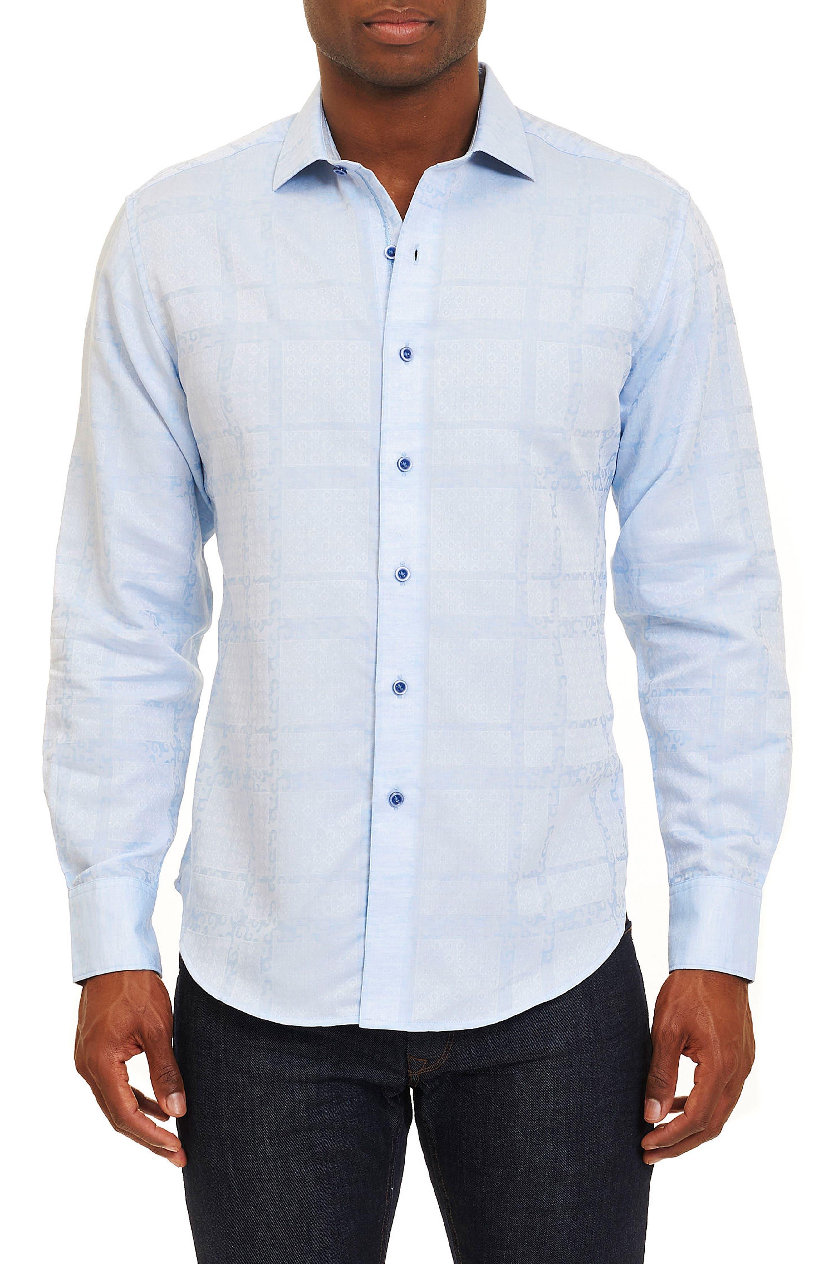 Morley Sport Shirt,                         Main,                         color, Light Blue