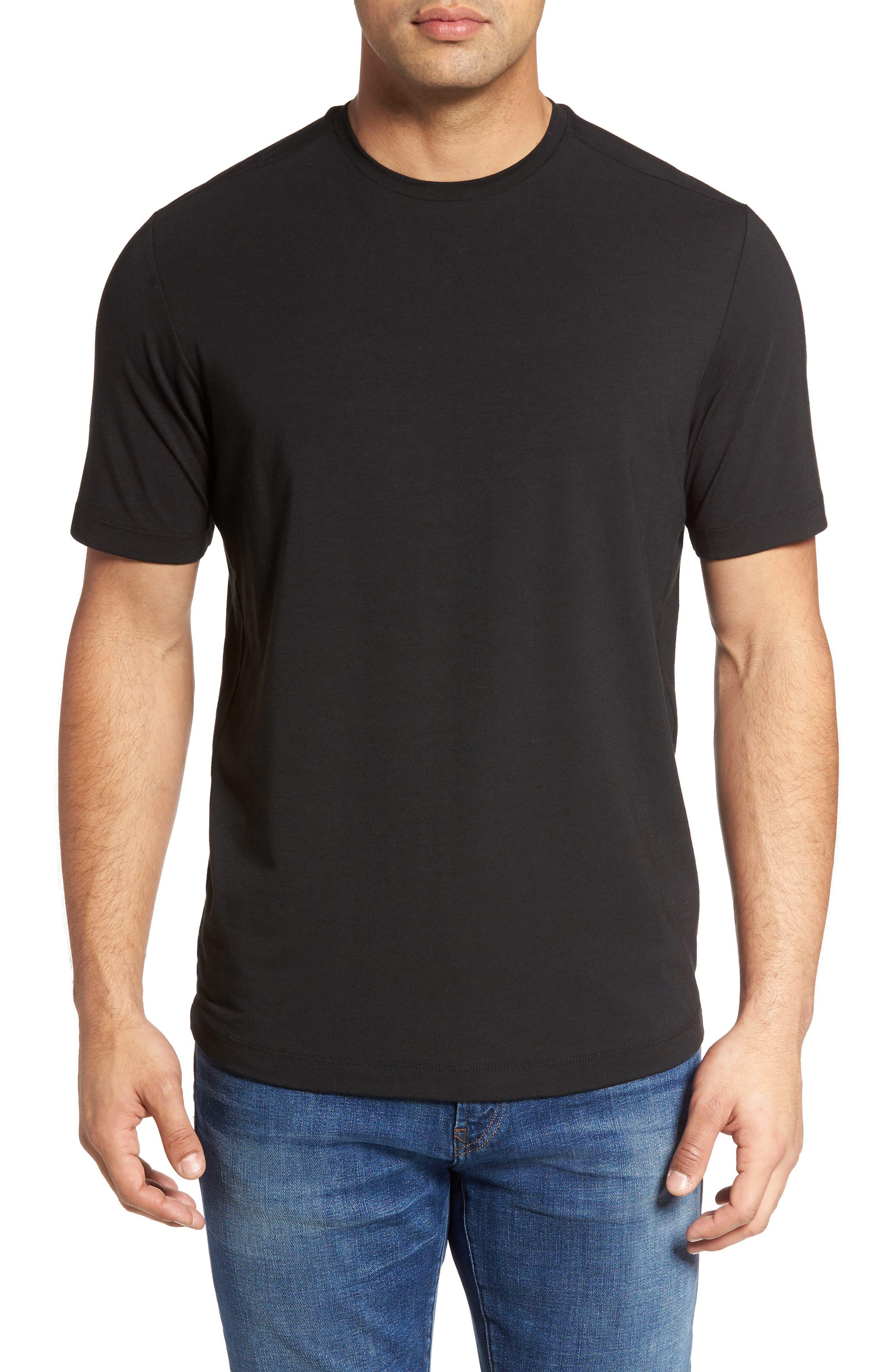 Tropicool T-Shirt,                         Main,                         color, Black