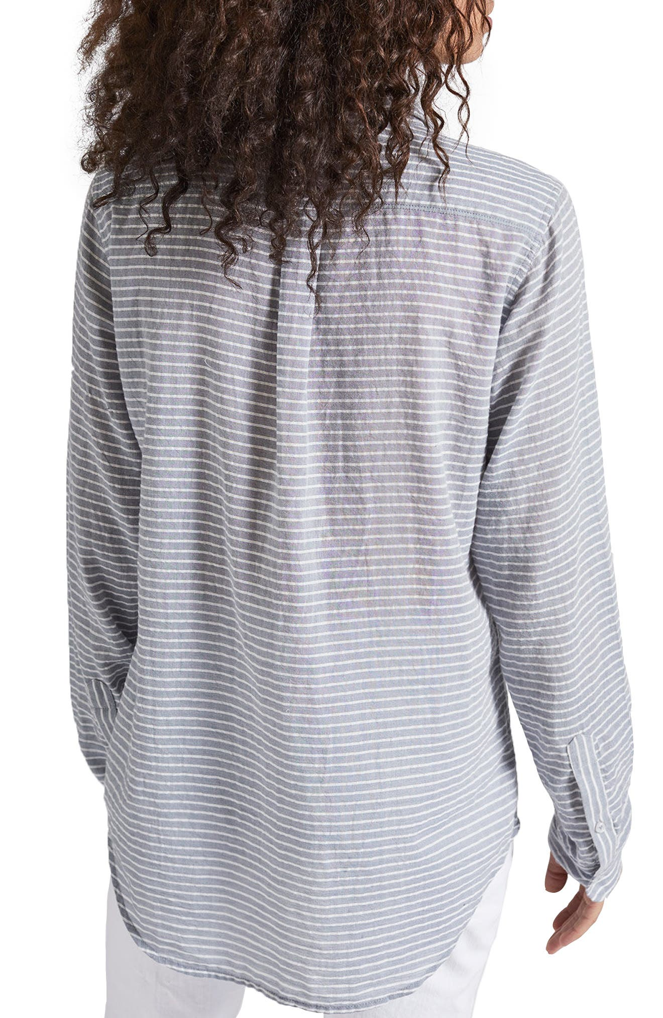 The Boyfriend Shirt,                             Alternate thumbnail 2, color,                             Stripe Chambray