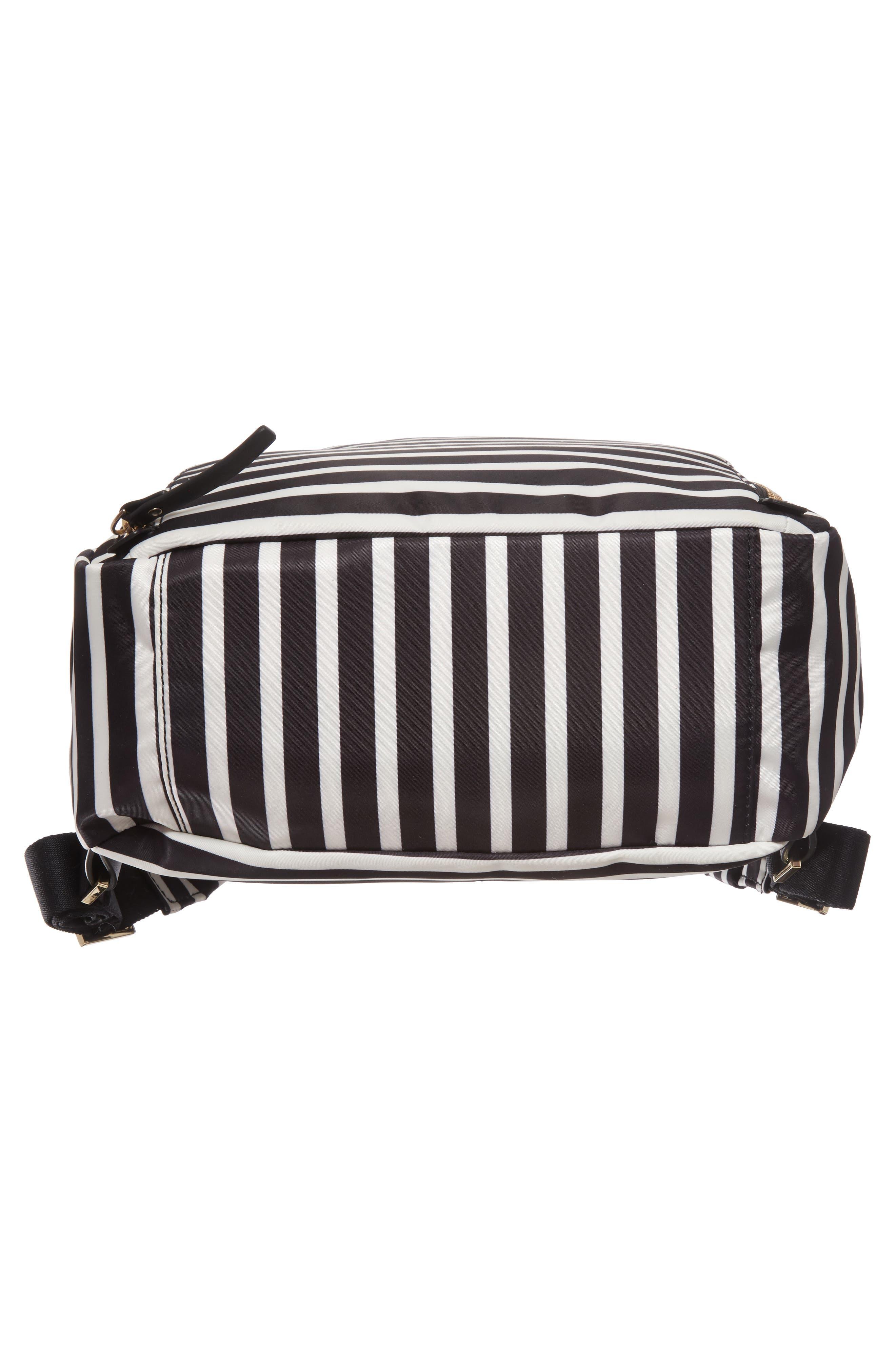 watson lane - hartley nylon backpack,                             Alternate thumbnail 6, color,                             Black/ Clotted Cream