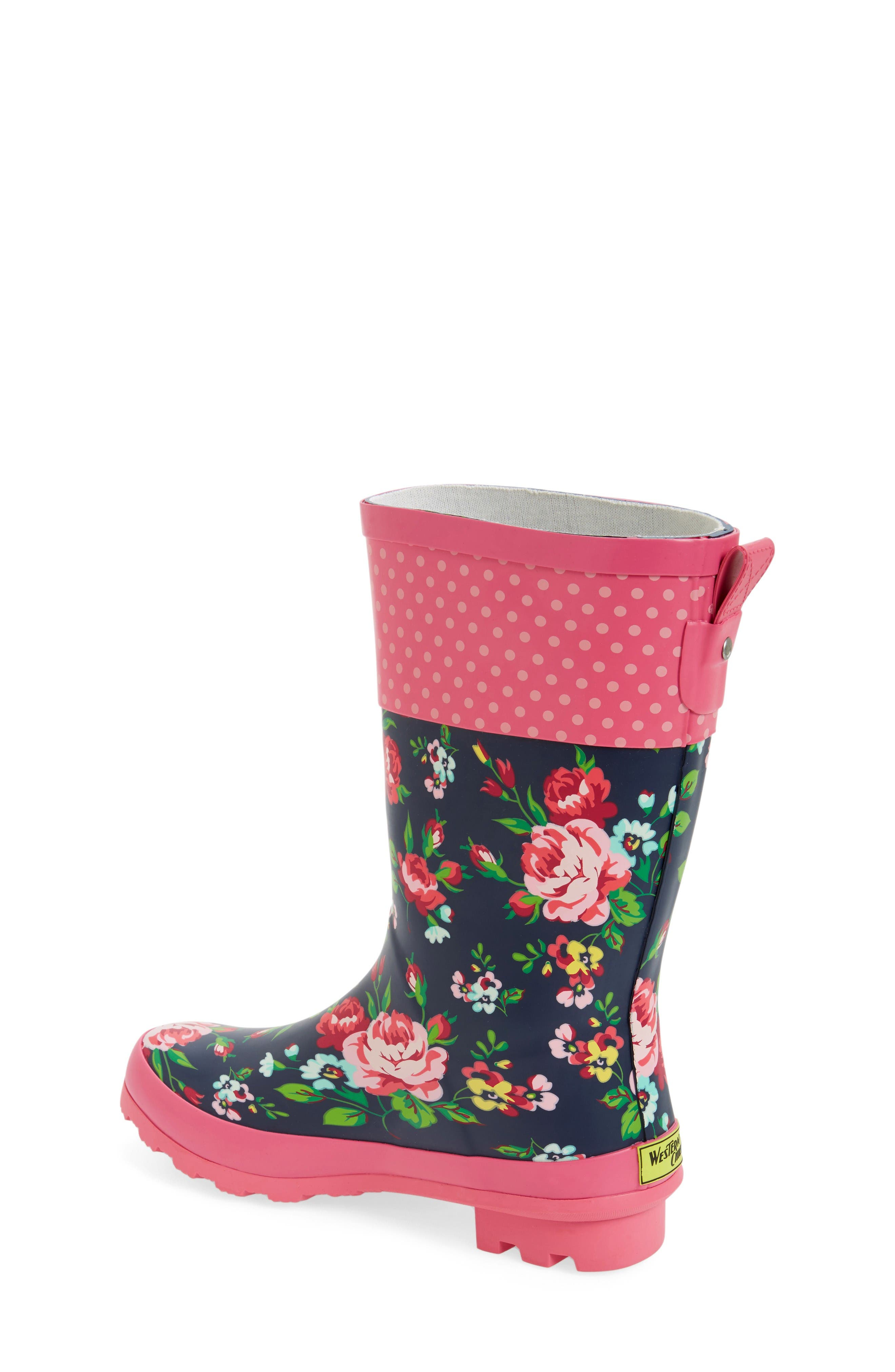 Classic Rosie Rain Boot,                             Alternate thumbnail 2, color,                             Navy