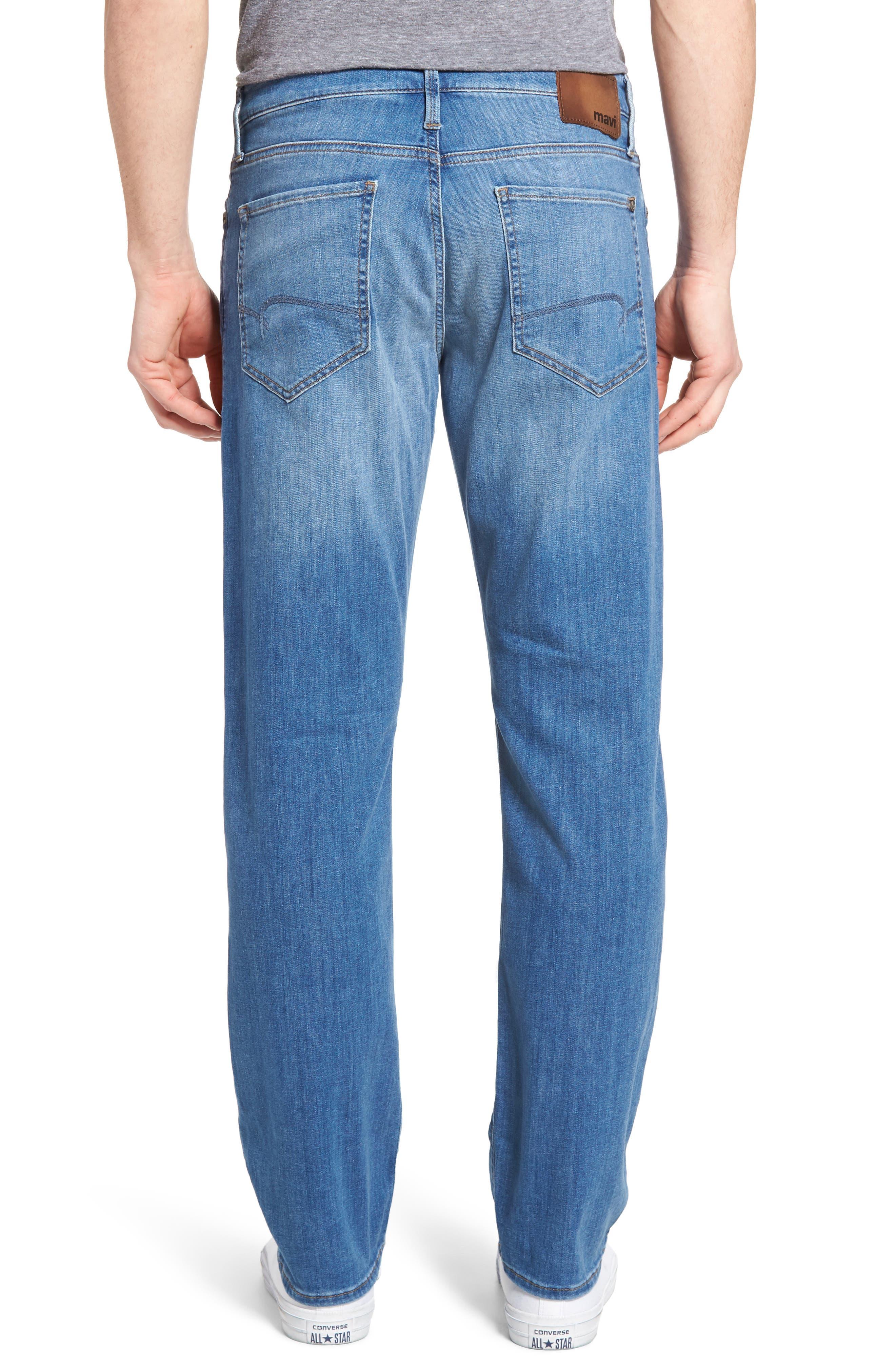 Myles Straight Leg Jeans,                             Alternate thumbnail 2, color,                             Mid Blue Portland