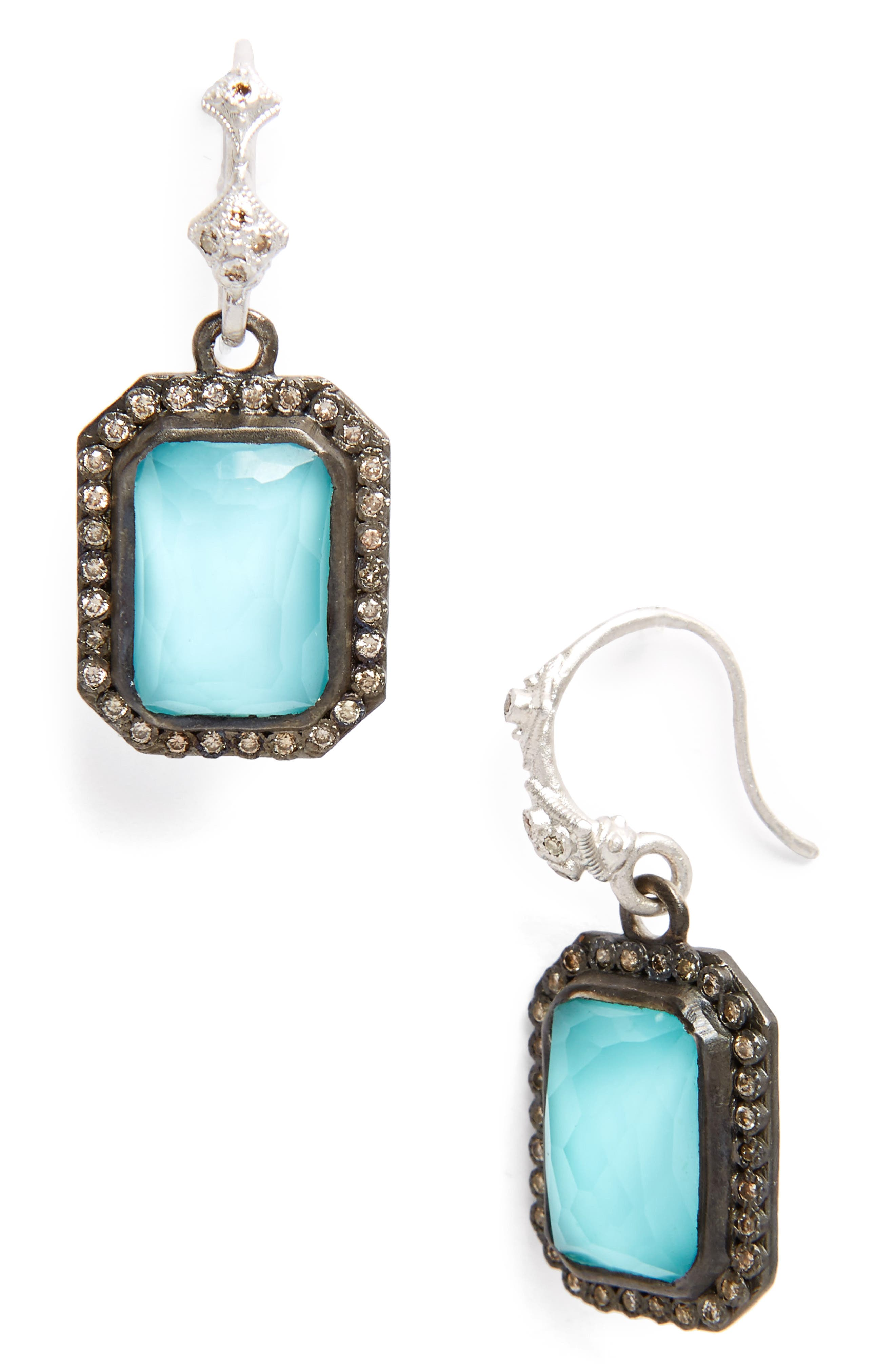 New World Drop Earrings,                         Main,                         color, Silver