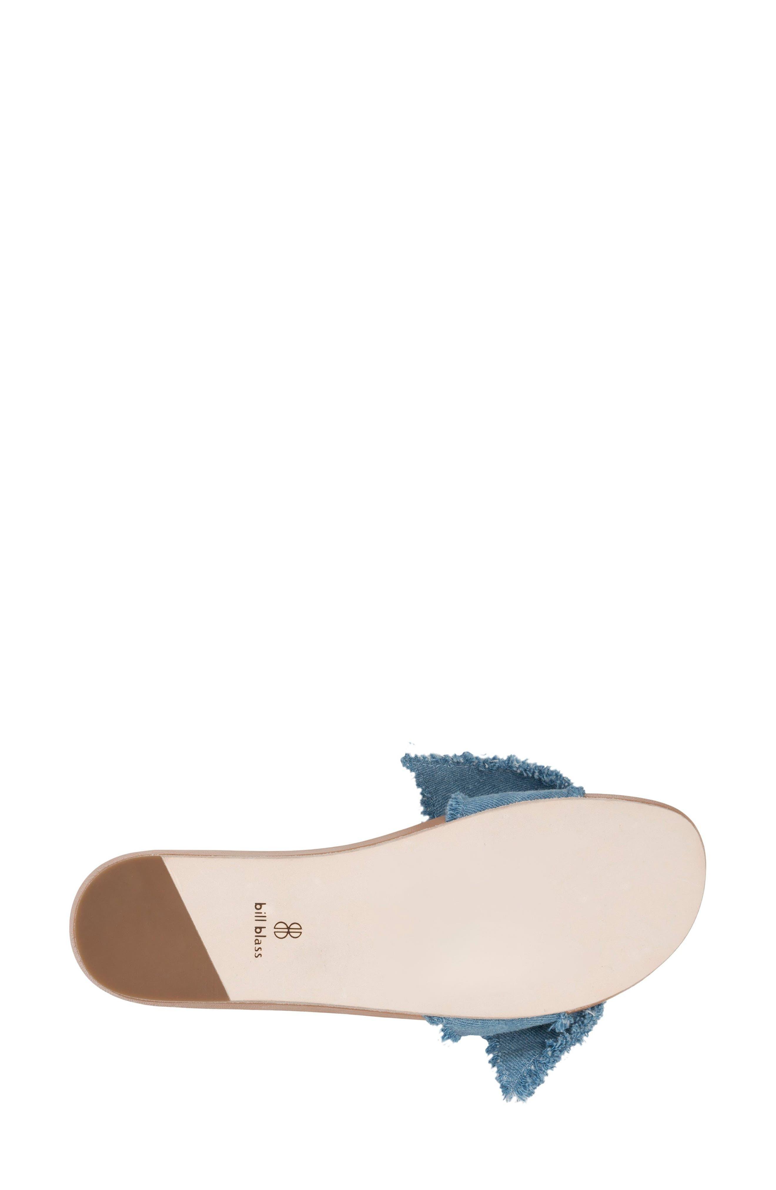 Carmen Slide Sandal,                             Alternate thumbnail 5, color,                             Blue Denim