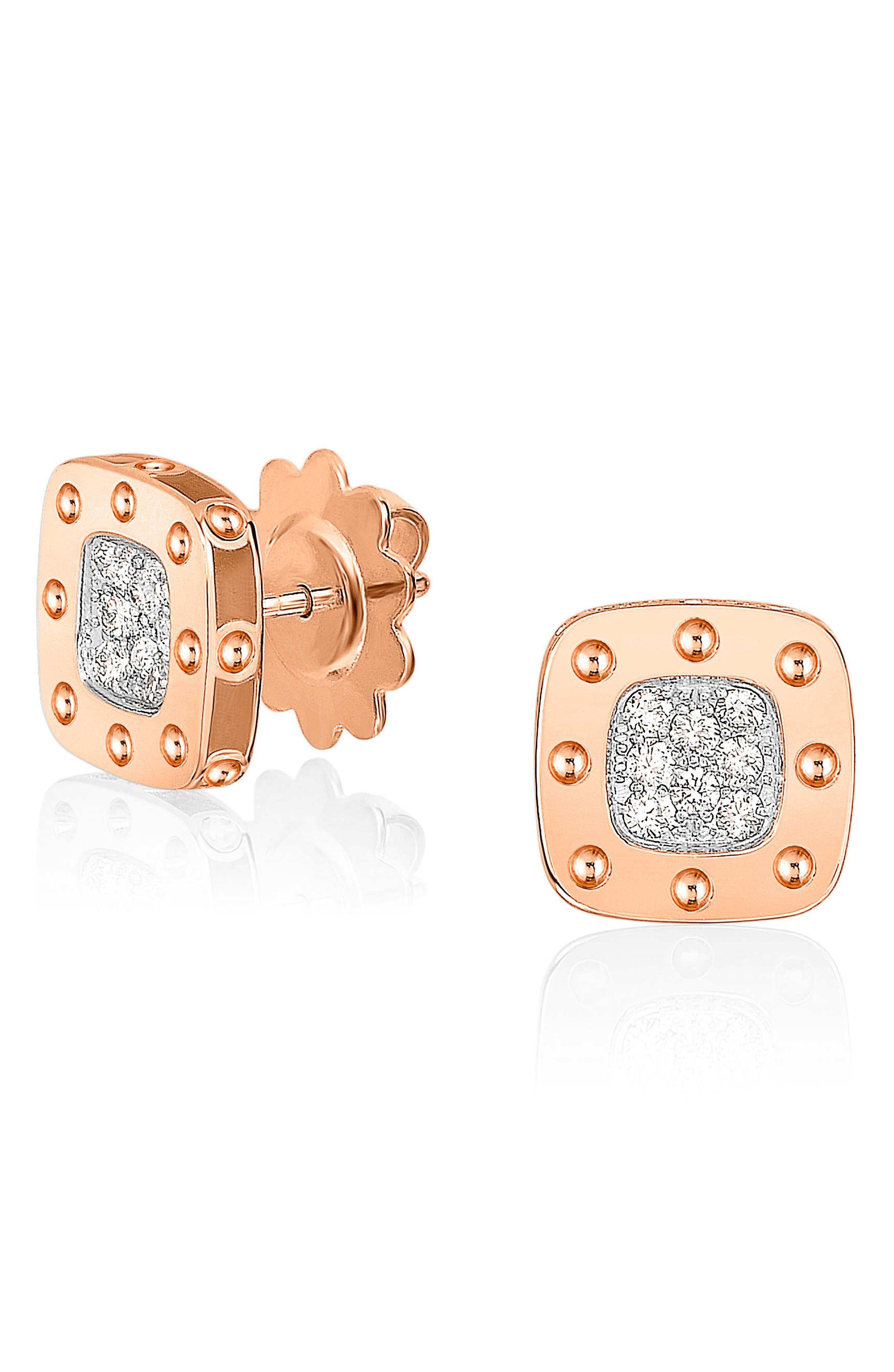 Alternate Image 1 Selected - Roberto Coin 'Pois Moi' Diamond Stud Earrings