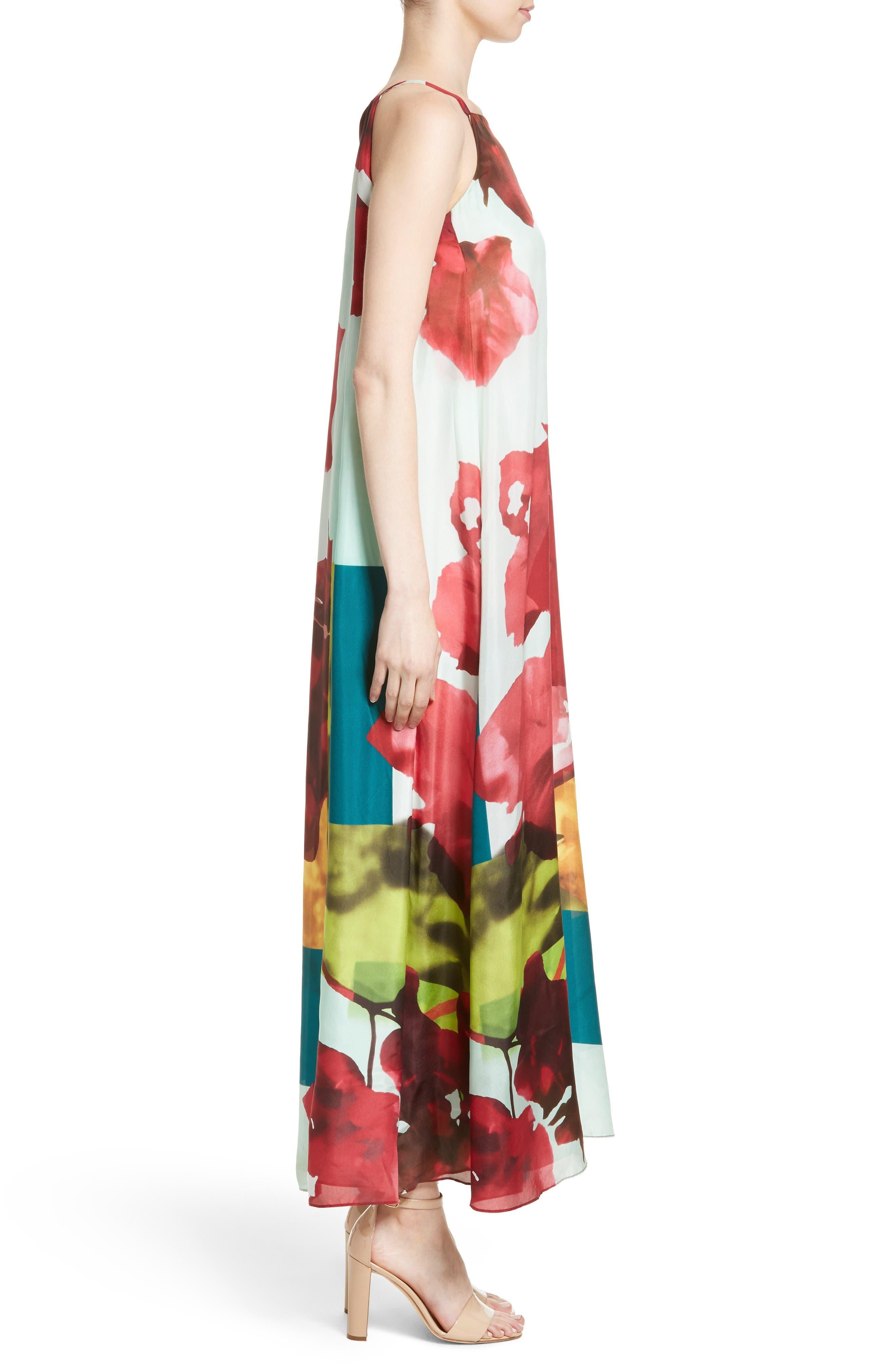Alternate Image 5  - Lafayette 148 New York Leonissa Print Silk Maxi Dress
