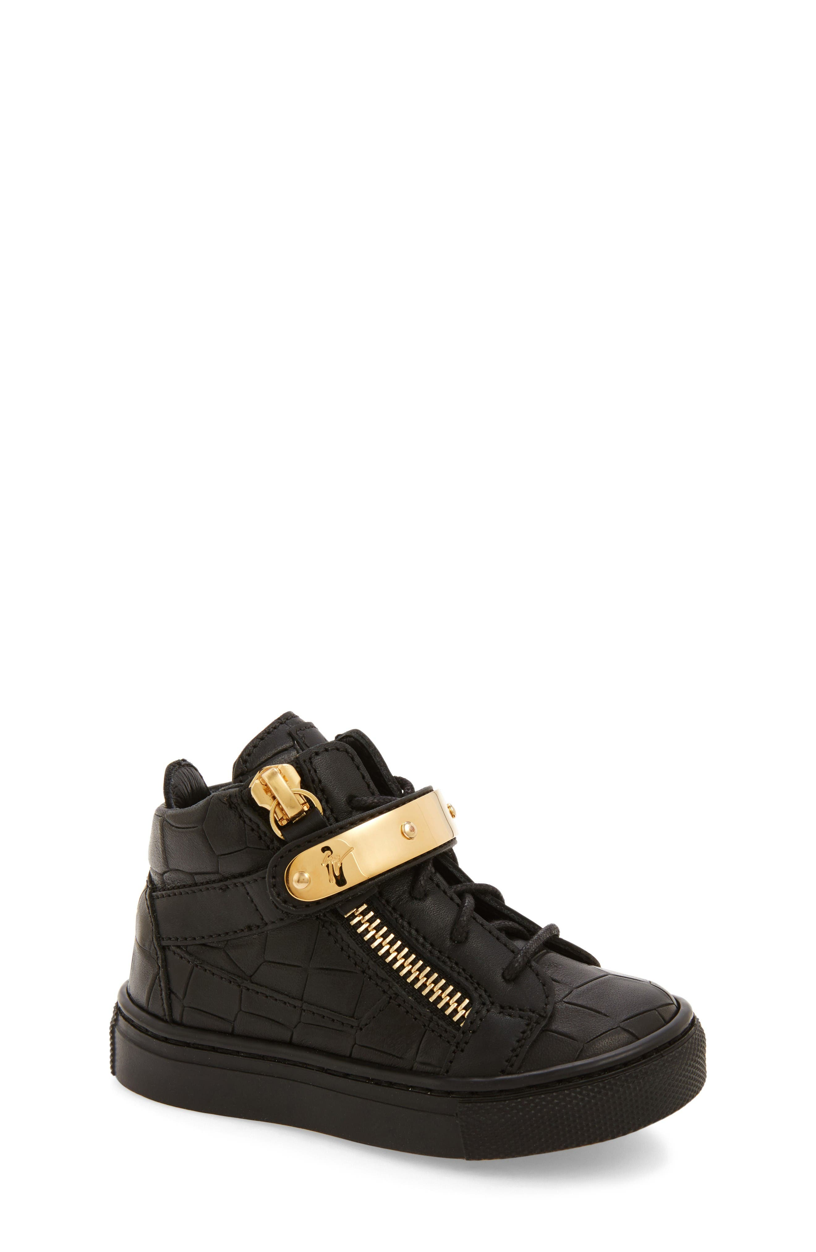 Giuseppe Zanotti High Top Sneaker (Baby, Walker, Toddler & Little Kid)