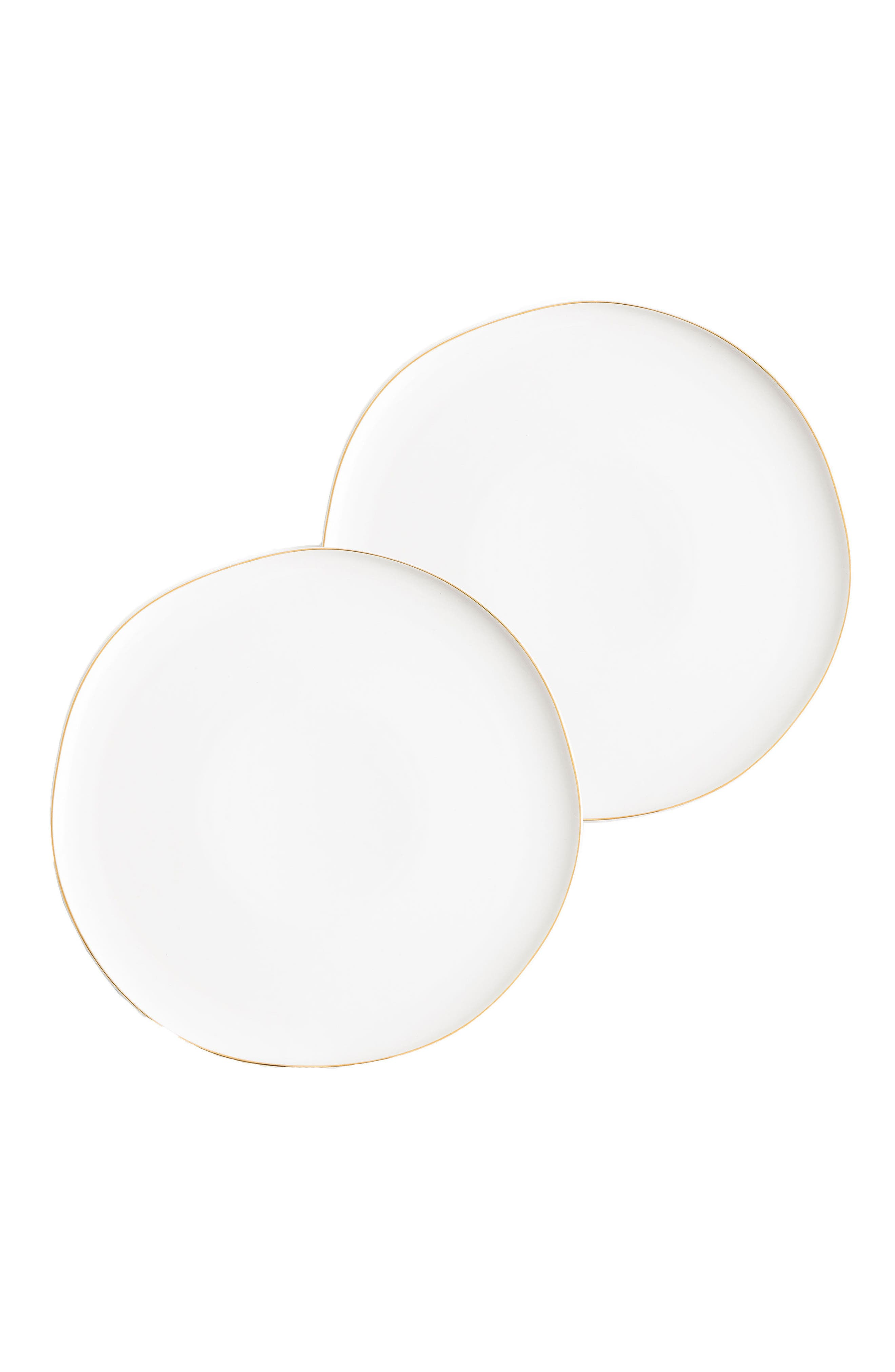Pacifica Set of 2 Plates,                         Main,                         color, White