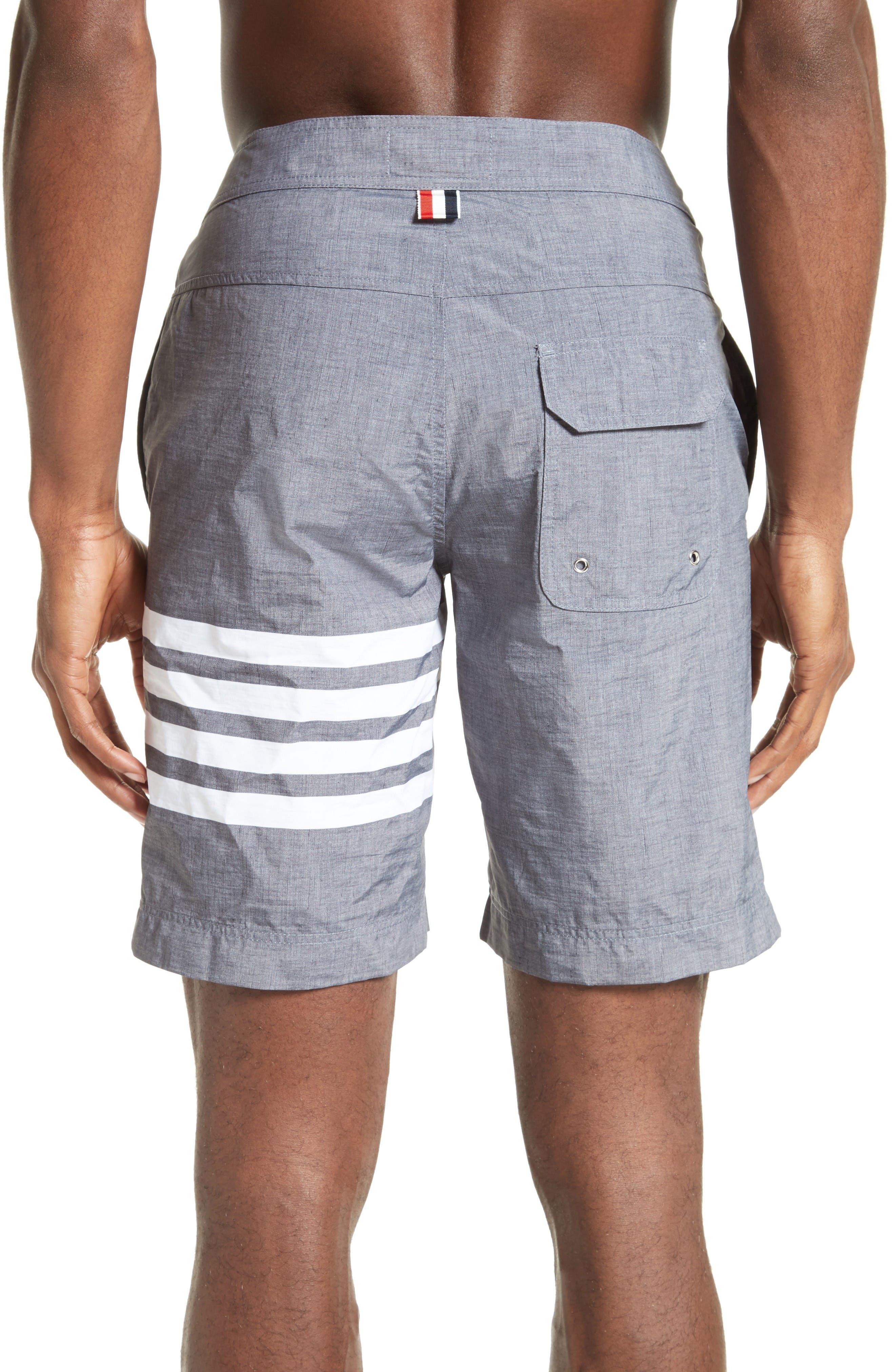 4-Bar Print Tech Board Shorts,                             Alternate thumbnail 2, color,                             Medium Grey