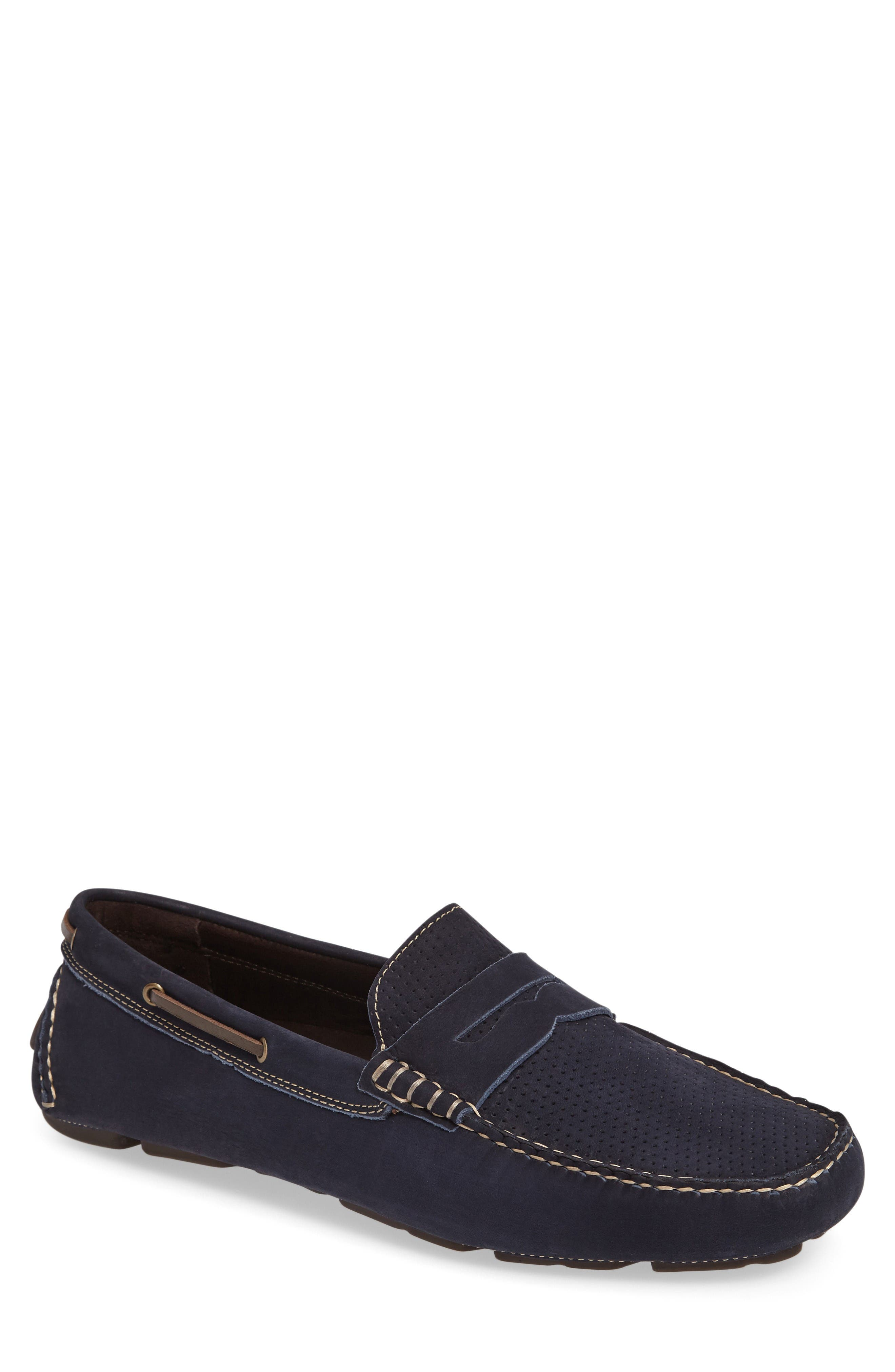 Johnston & Murphy Perforated Driving Loafer (Men)