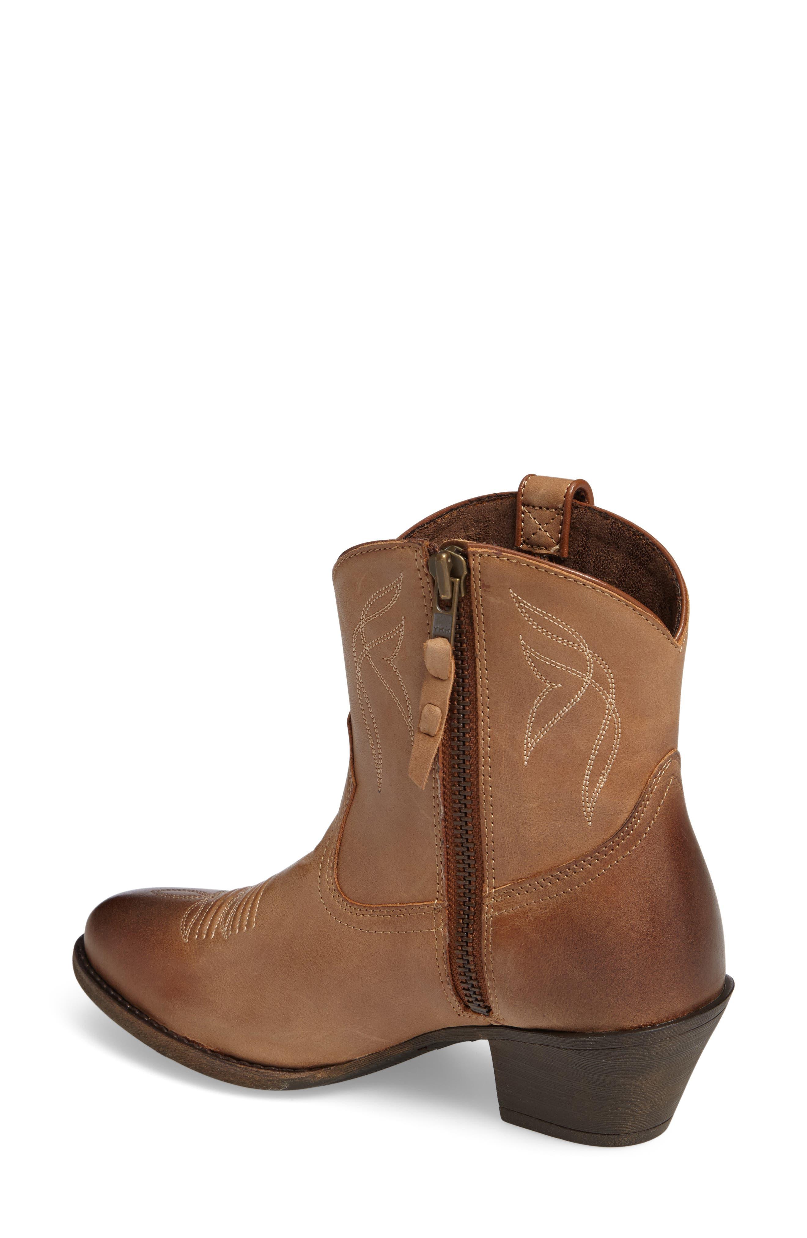 Darlin Short Western Boot,                             Alternate thumbnail 2, color,                             Burnt Sugar Leather