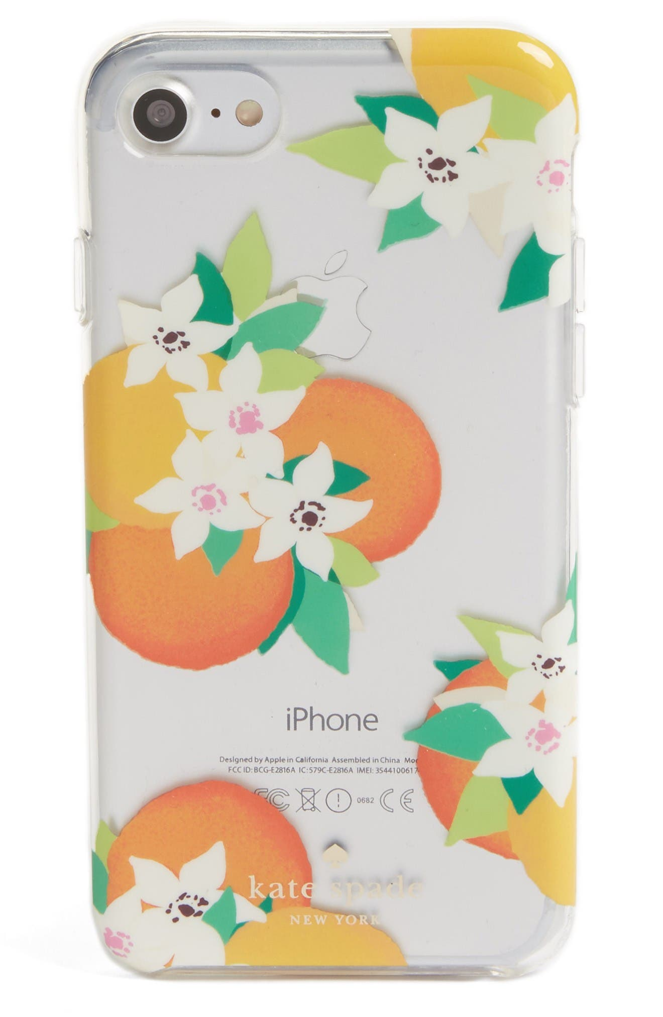Alternate Image 1 Selected - kate spade new york orangerie iPhone 7 Case