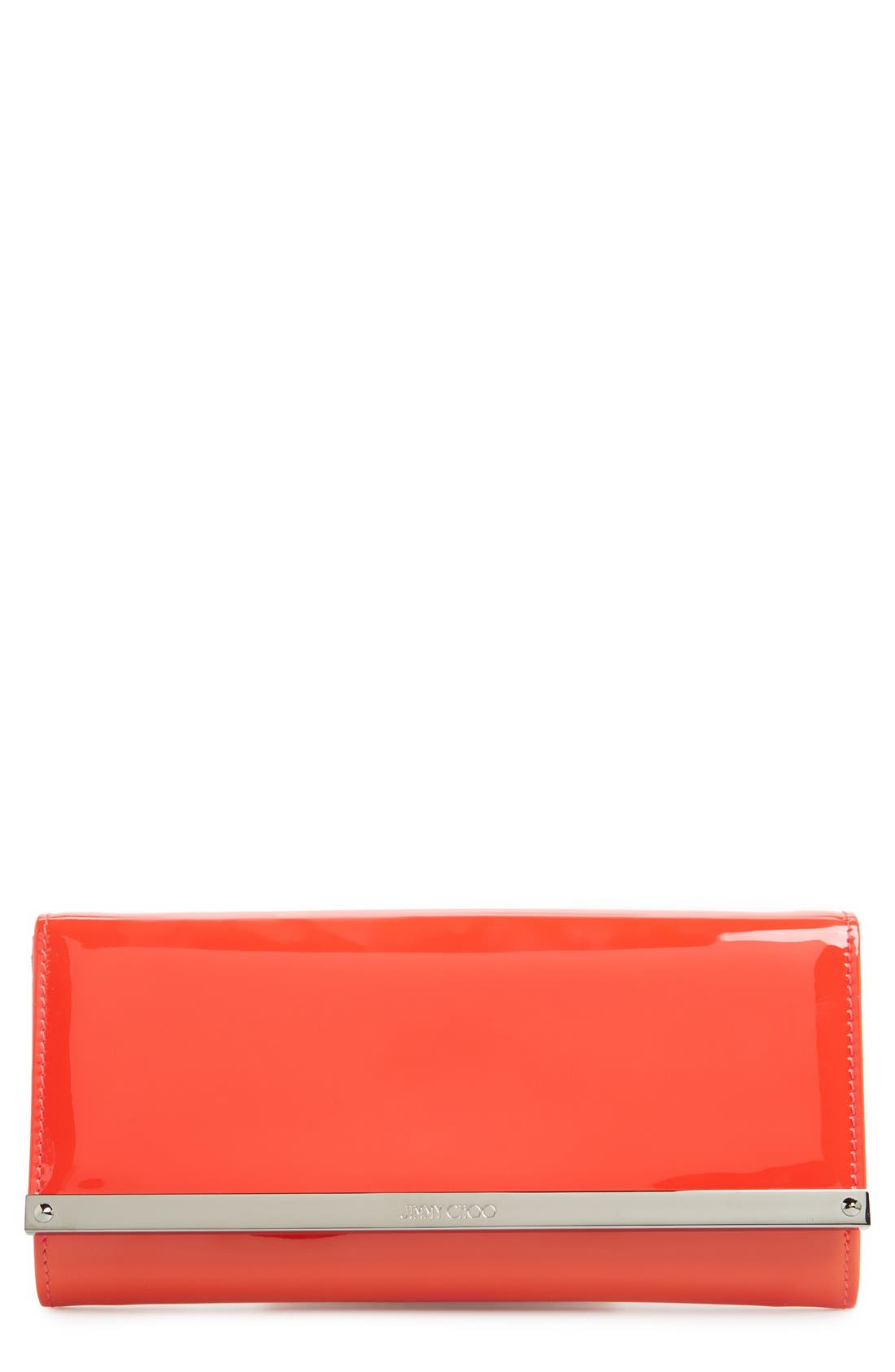 Jimmy Choo 'Milla' Patent Leather Wallet on a Chain