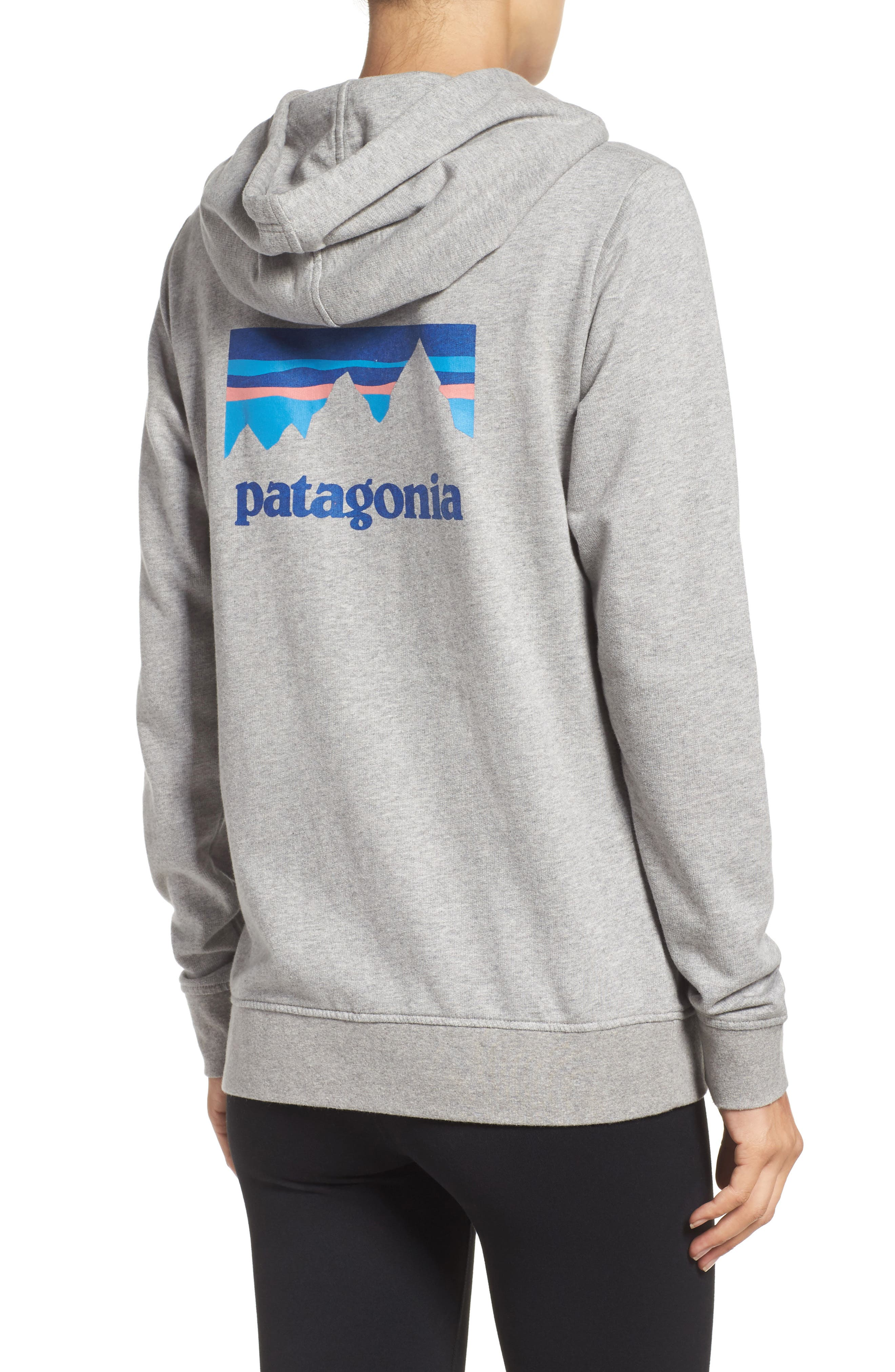Shop Sticker Zip Hoodie,                             Alternate thumbnail 2, color,                             Feather Grey
