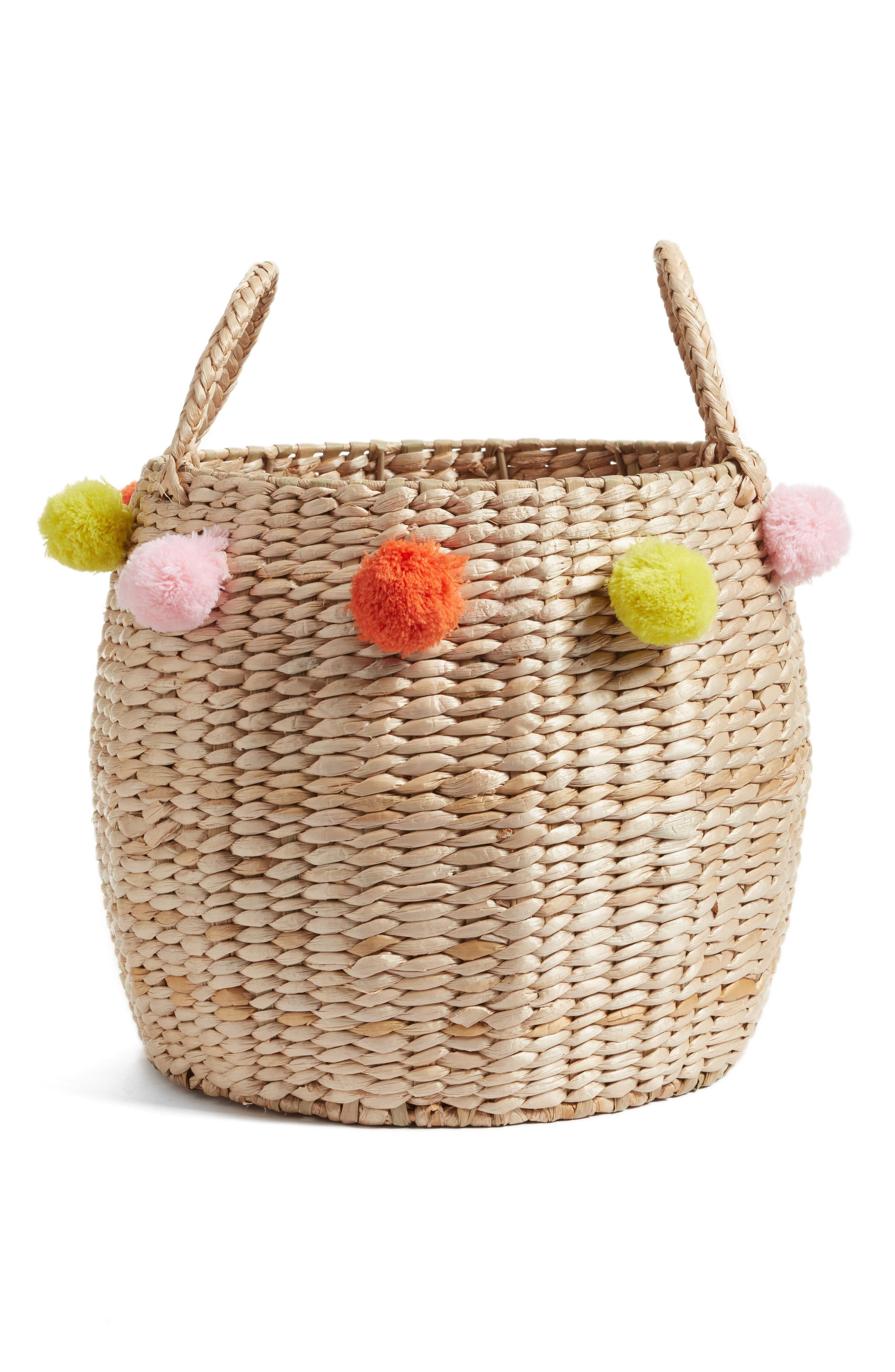 Main Image - Levtex Pompom Wicker Basket