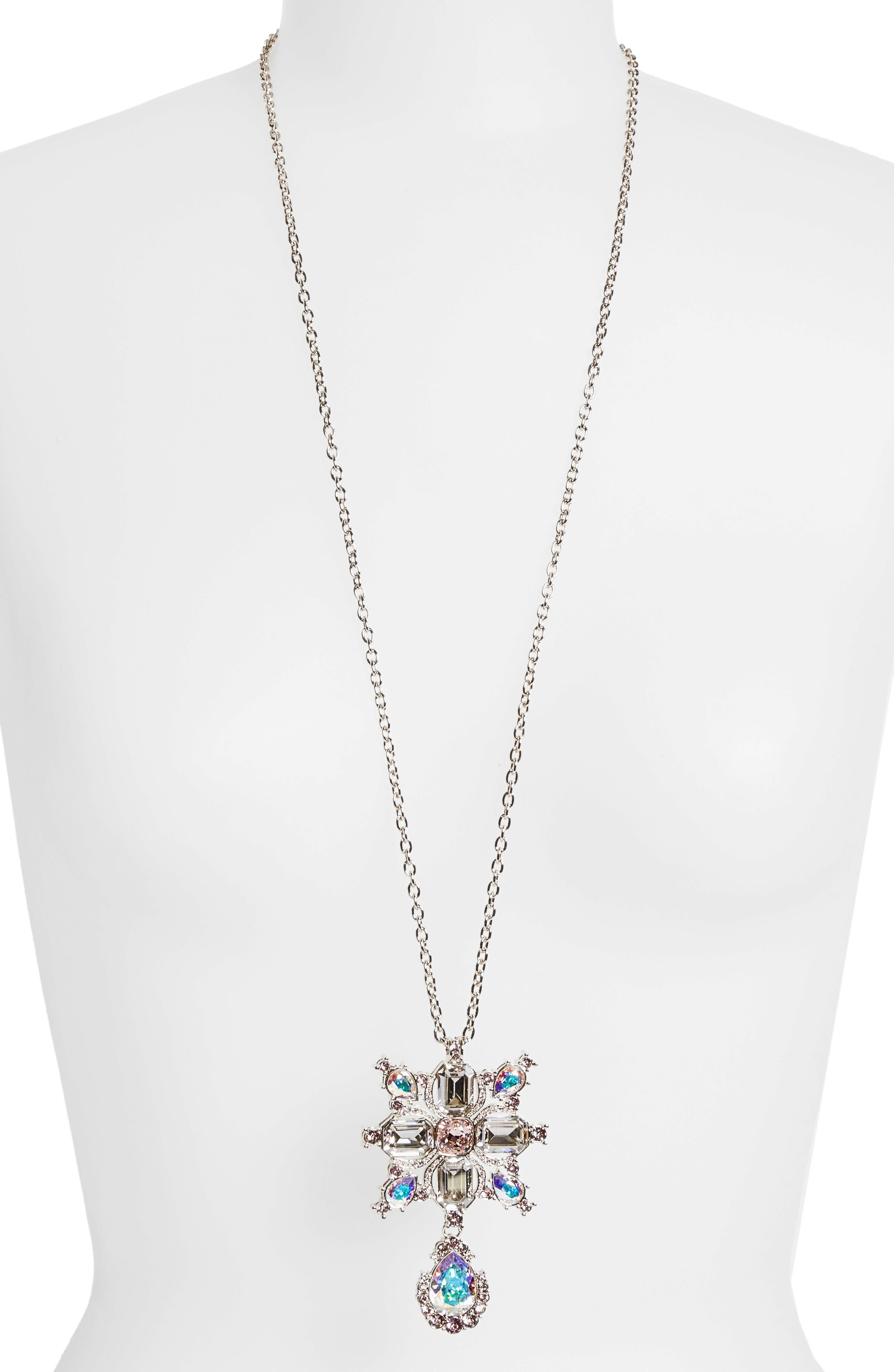 Alternate Image 2  - St. John Collection Swarovski Crystal Pendant Necklace