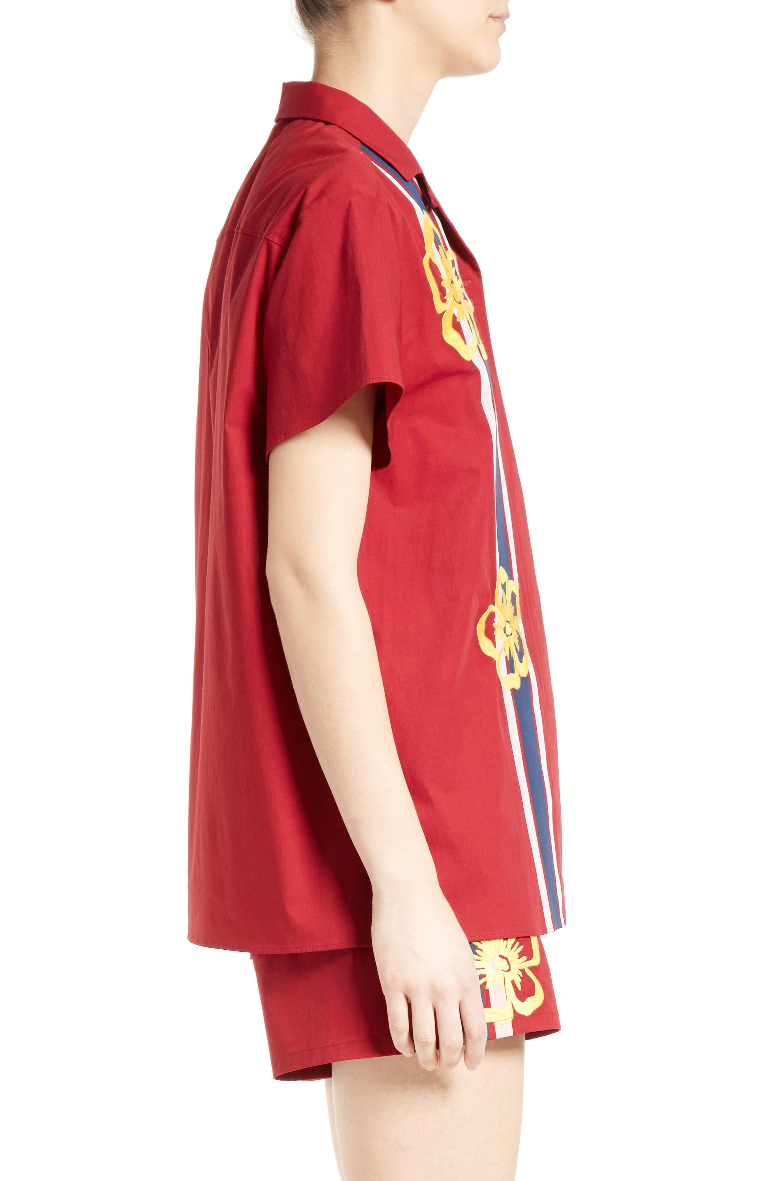 Alternate Image 4  - RED Valentino Surfboard Print Camp Shirt