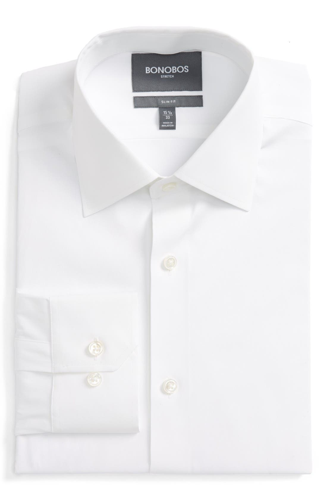 Bonobos Jetsetter Slim Fit Stretch Solid Dress Shirt