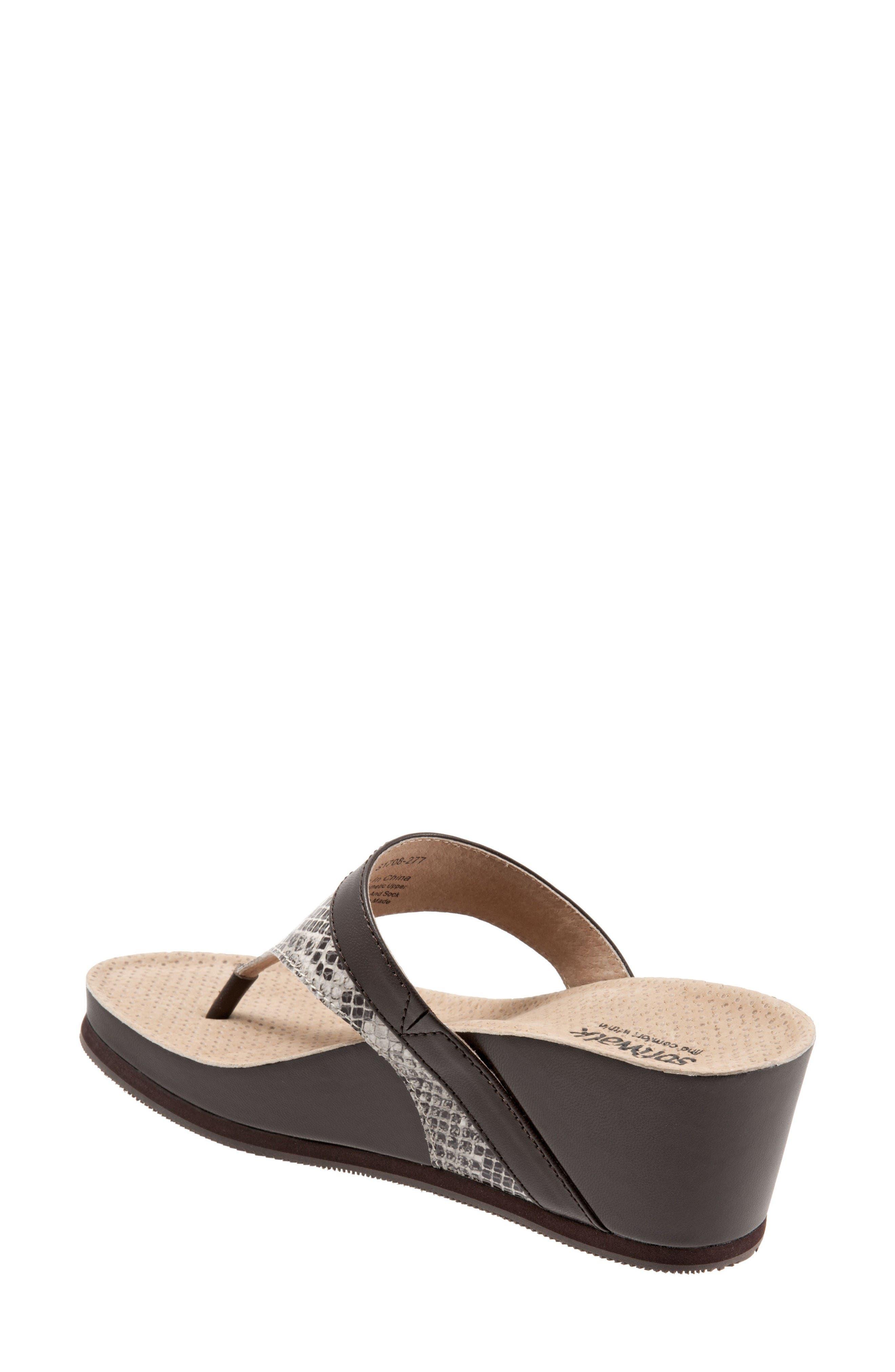 Heights Wedge Slide Sandal,                             Alternate thumbnail 2, color,                             Brown Leather