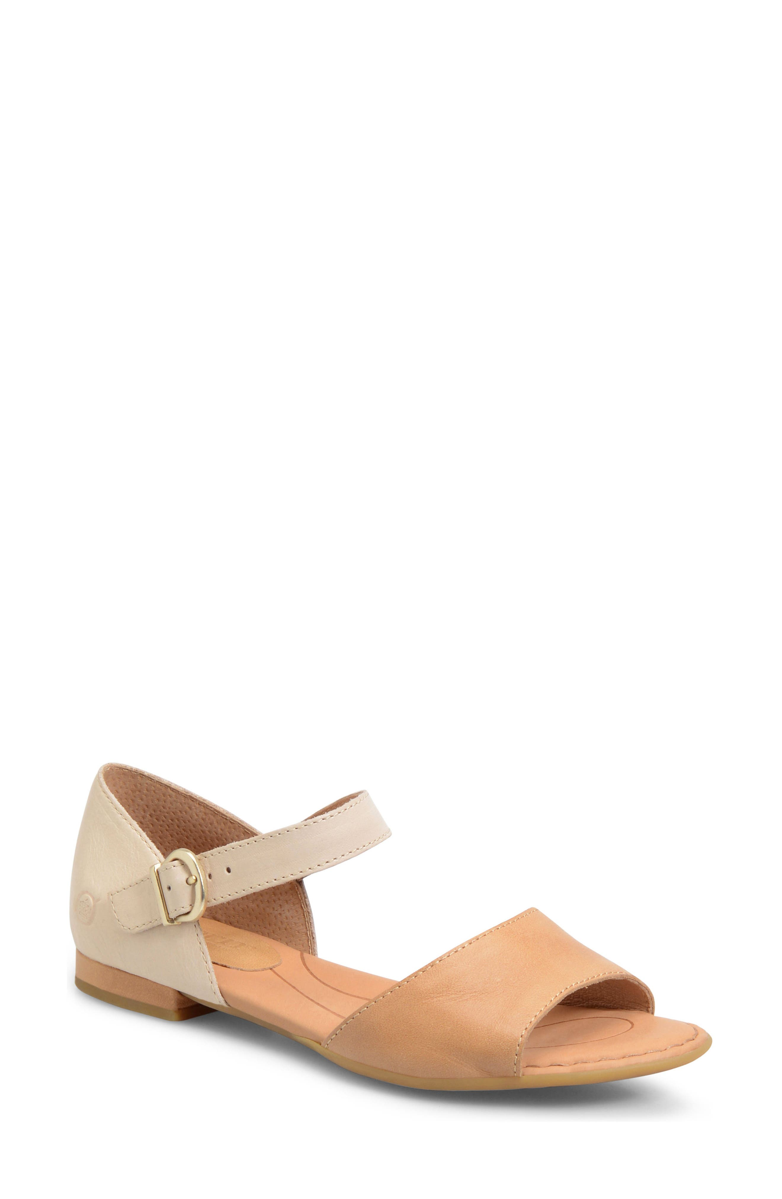 Cairo d'Orsay Sandal,                             Main thumbnail 1, color,                             Natural Leather