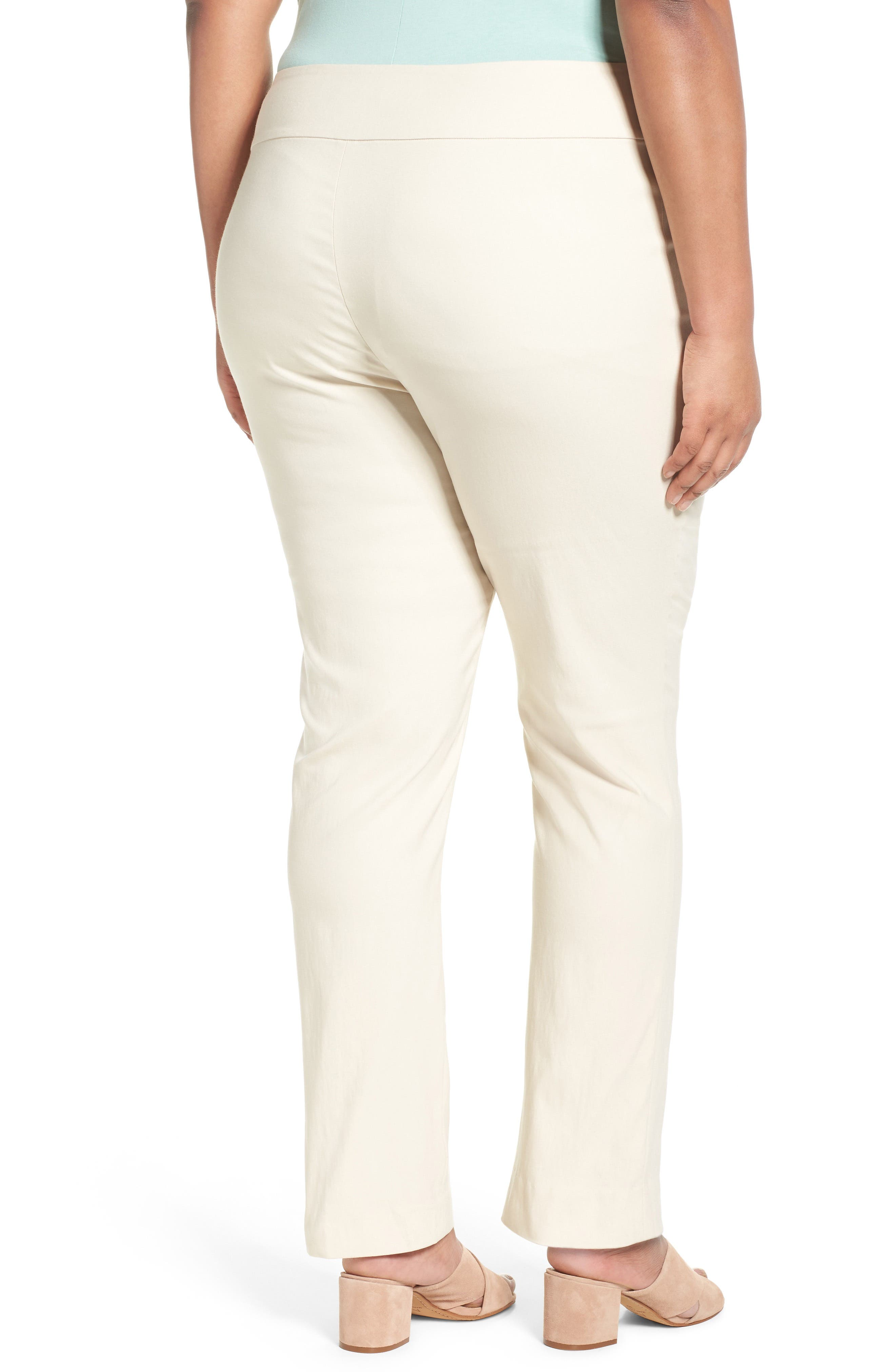 'Wonder Stretch' Straight Leg Pants,                             Alternate thumbnail 2, color,                             Sandshell