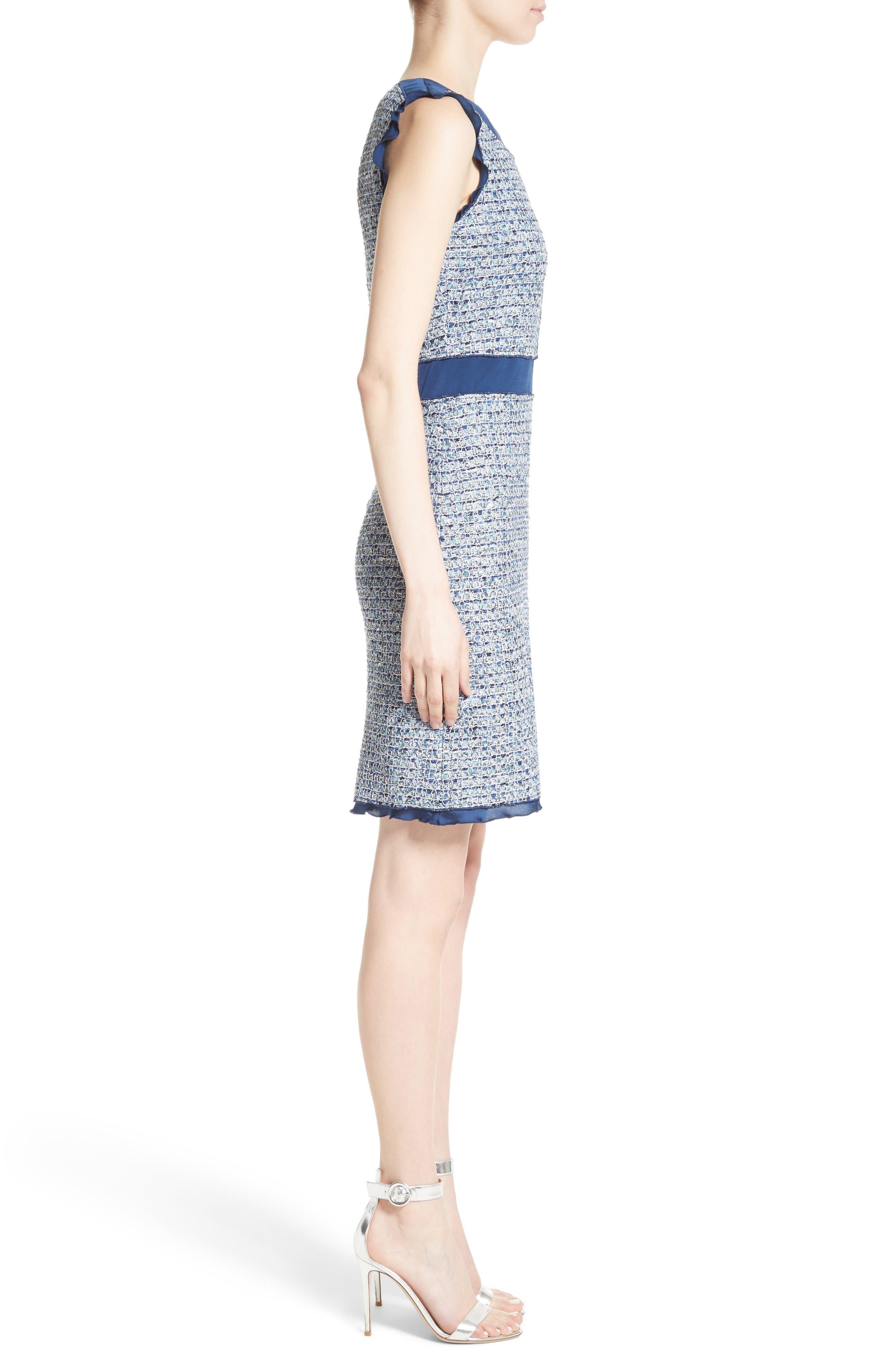 Alternate Image 3  - St. John Collection Kiara Tweed A-Line Dress