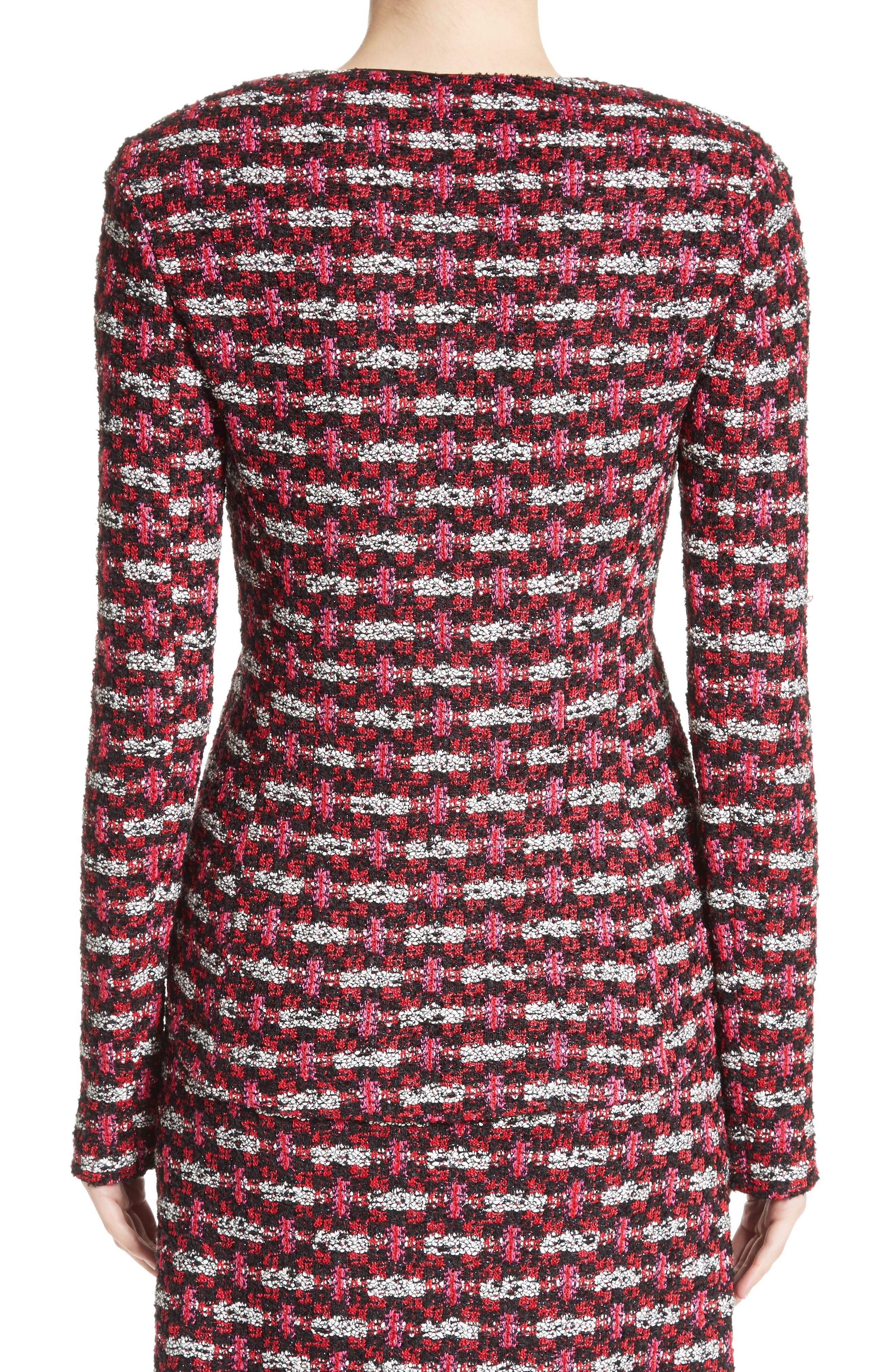 Hiran Tweed Knit Jacket,                             Alternate thumbnail 2, color,                             Scarlet Multi