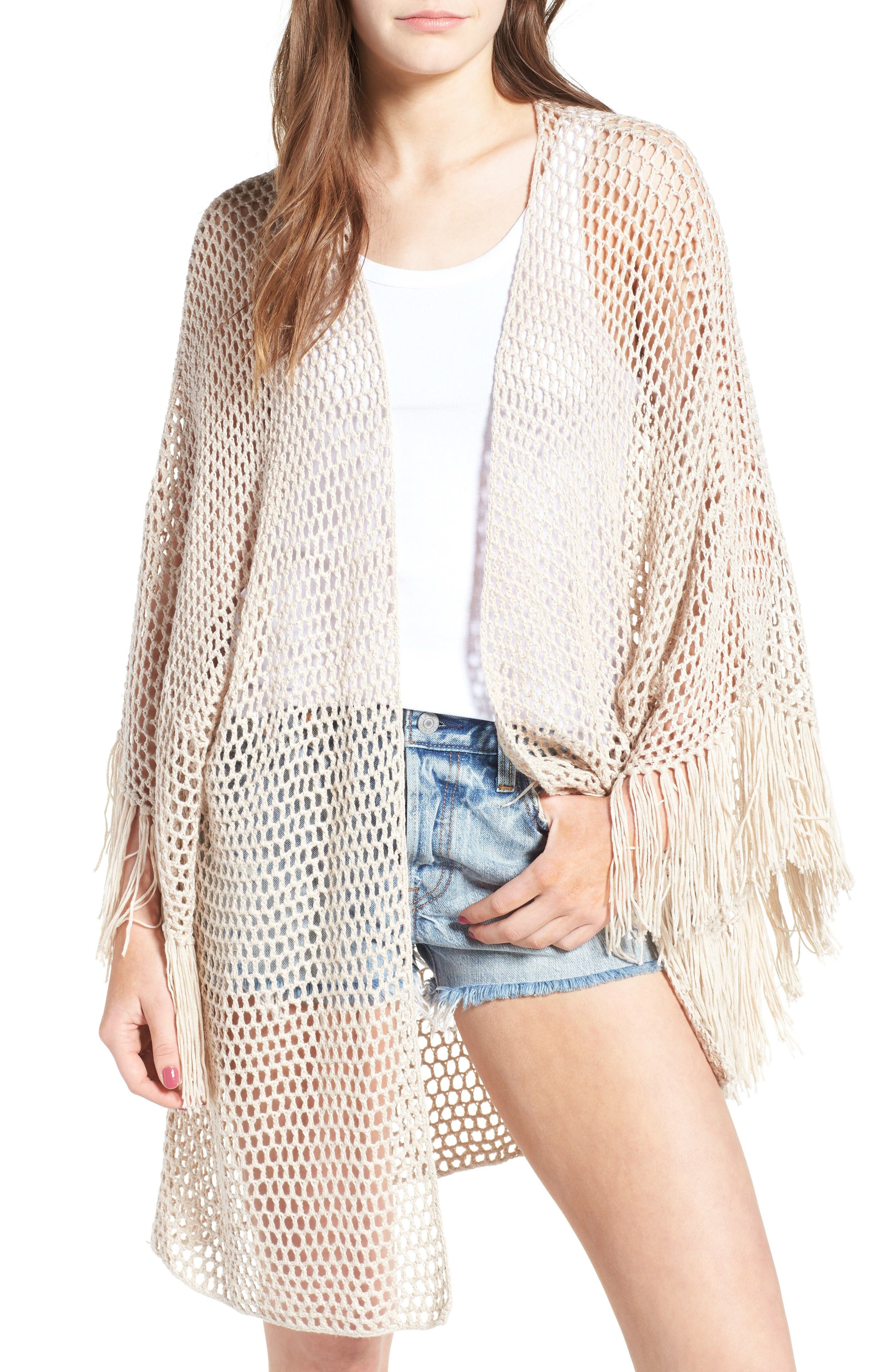 Main Image - Somedays Lovin Crochet Kimono