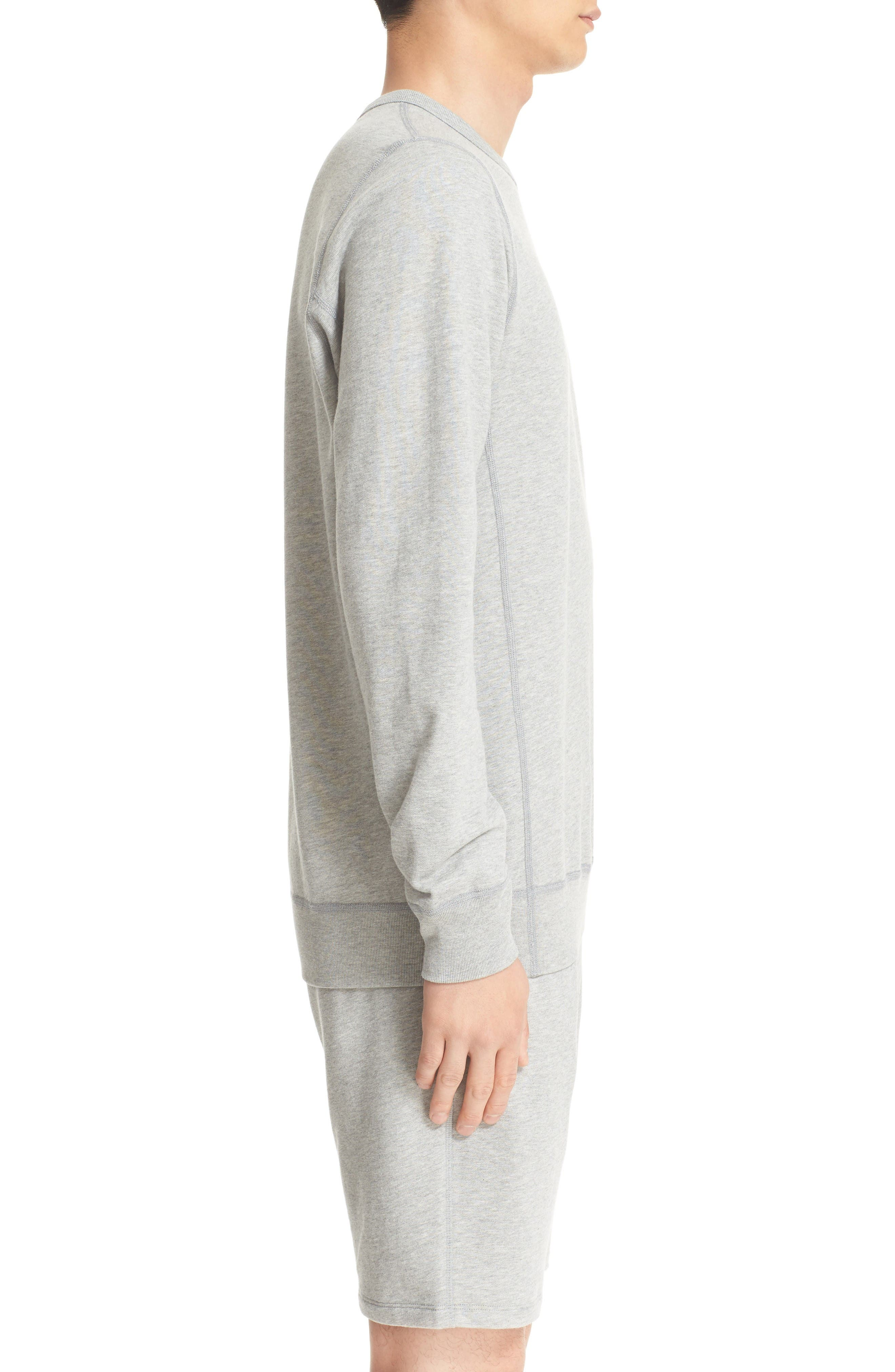 French Terry Sweatshirt,                             Alternate thumbnail 3, color,                             Heather Grey