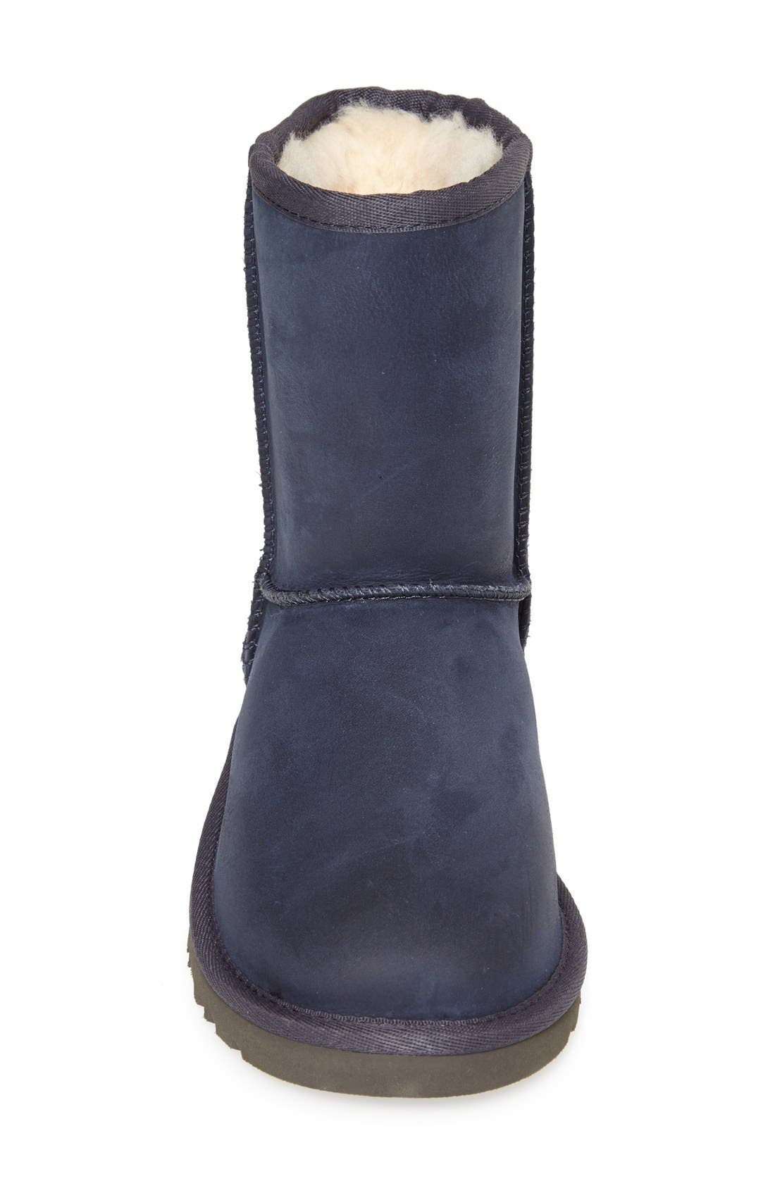 Alternate Image 3  - UGG® Classic Short Water Resistant Leather Boot (Little Kid & Big Kid)
