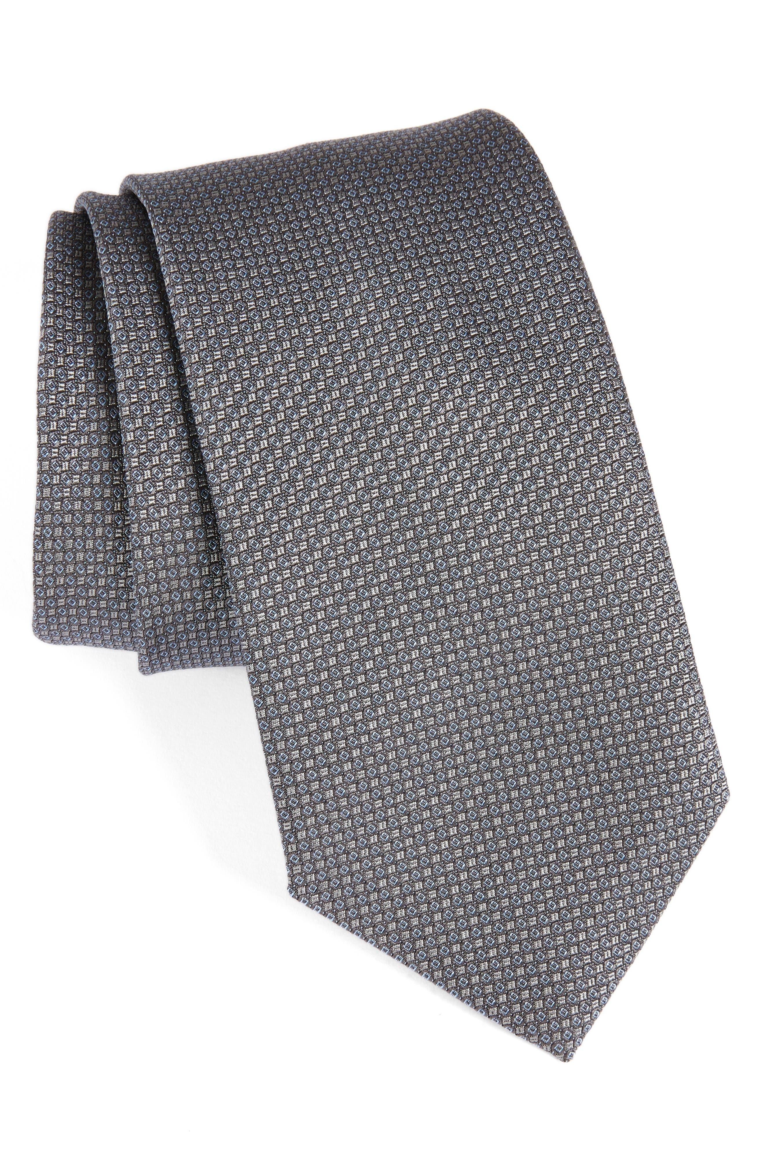 Main Image - David Donahue Solid Silk Tie