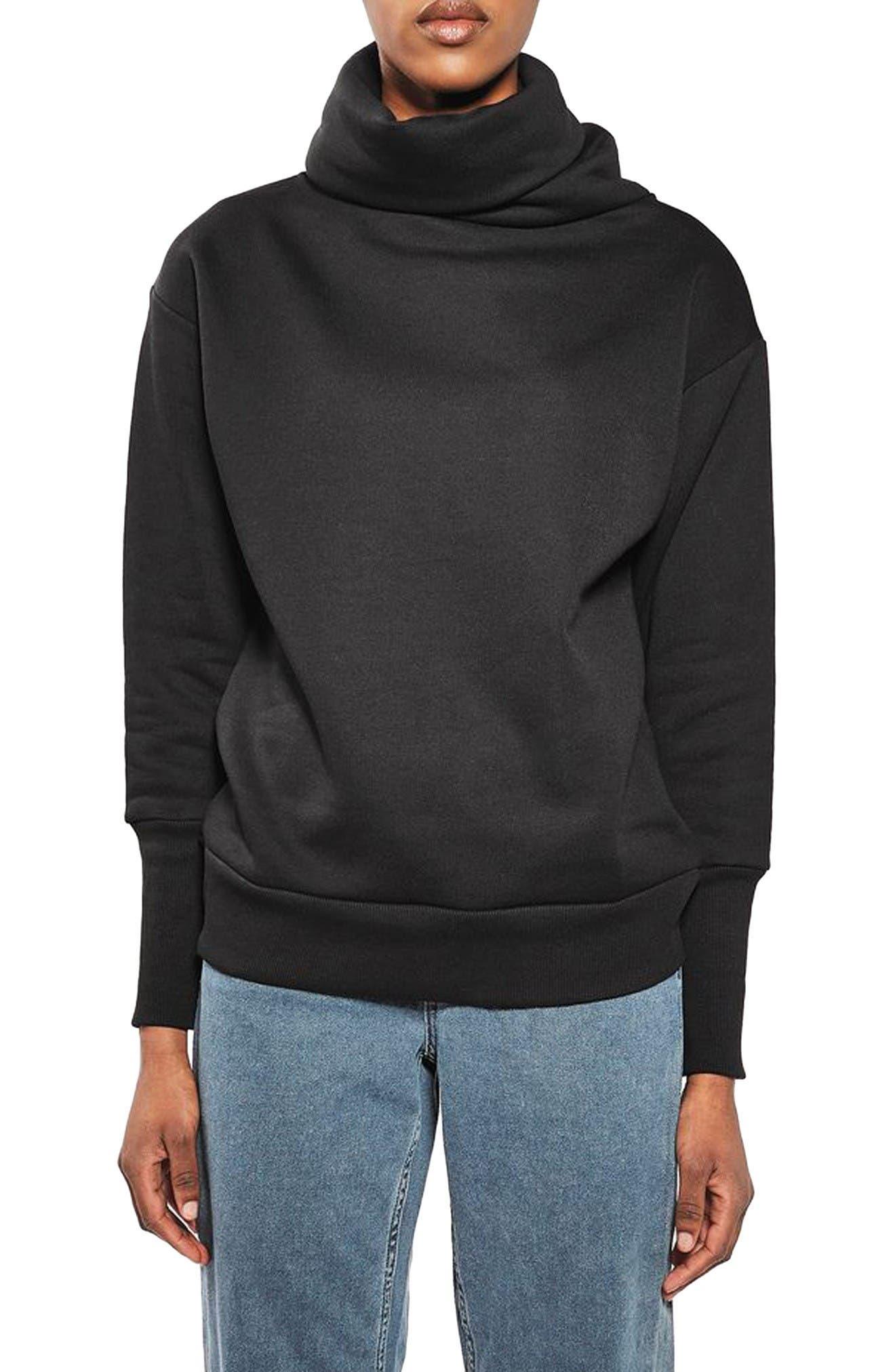 Topshop Boutique Diana Cowl Sweatshirt