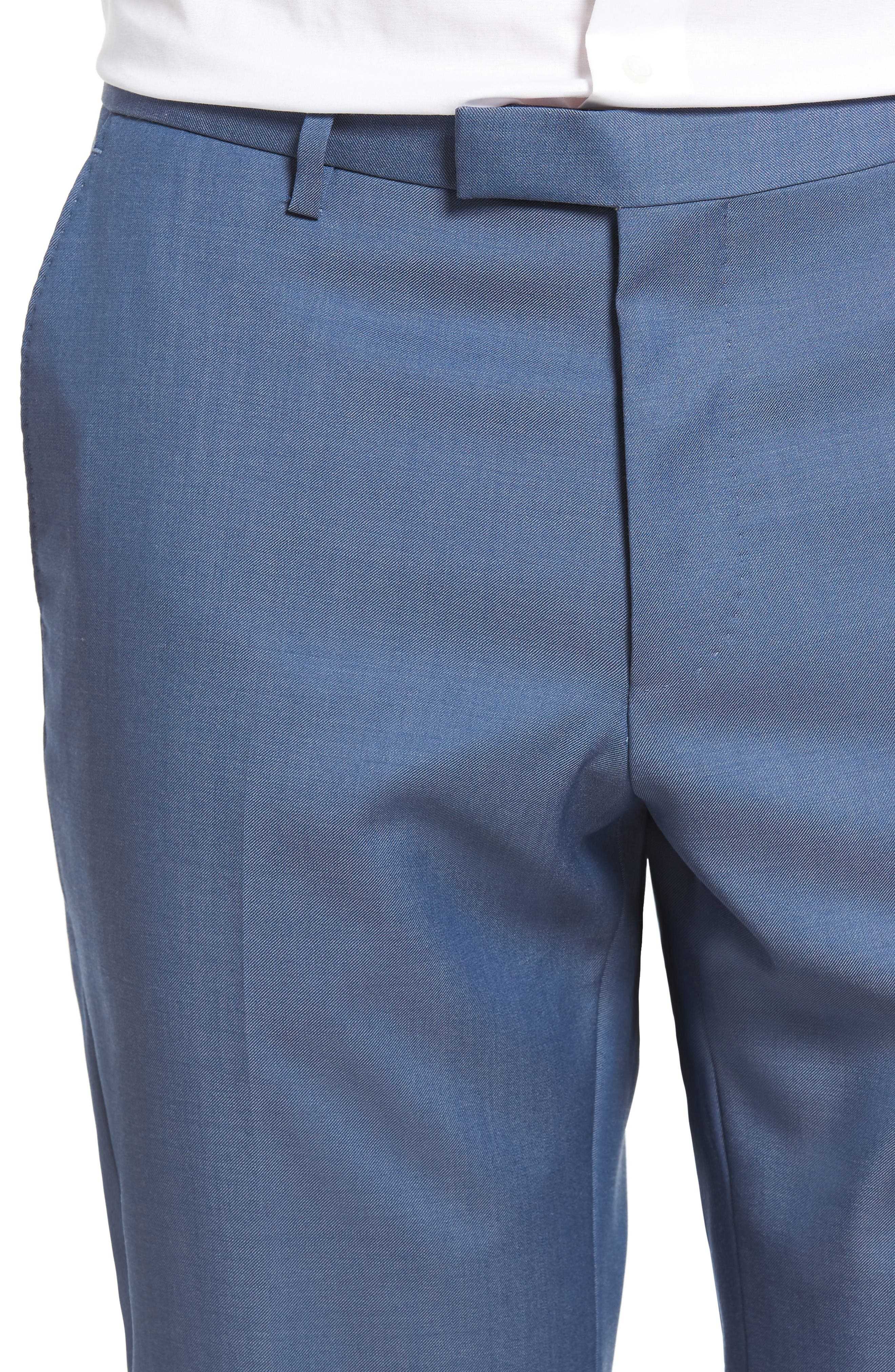 Alternate Image 4  - BOSS Leenon Flat Front Solid Wool Trousers