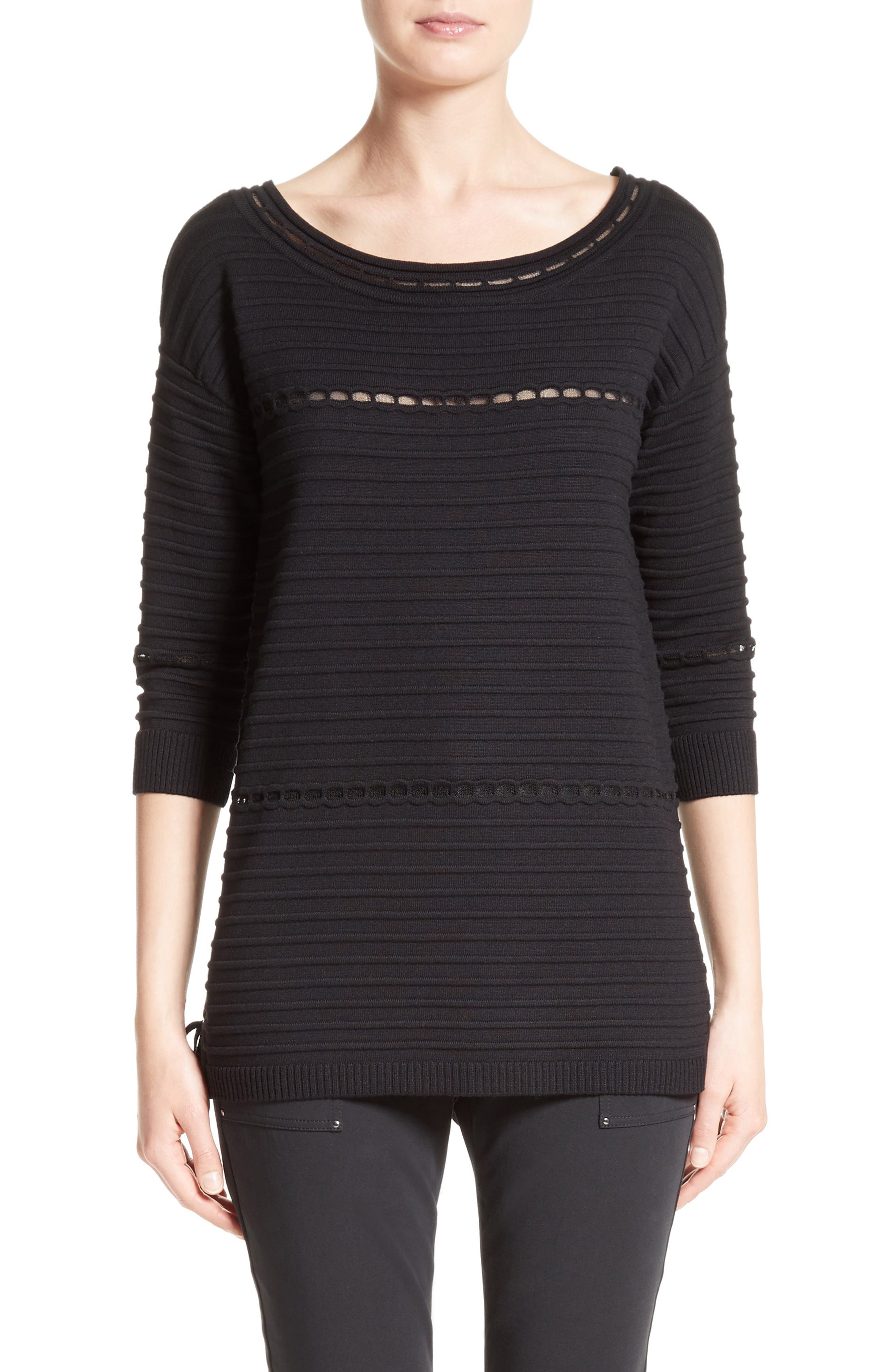 St. John Collection Textured Knit Sweater