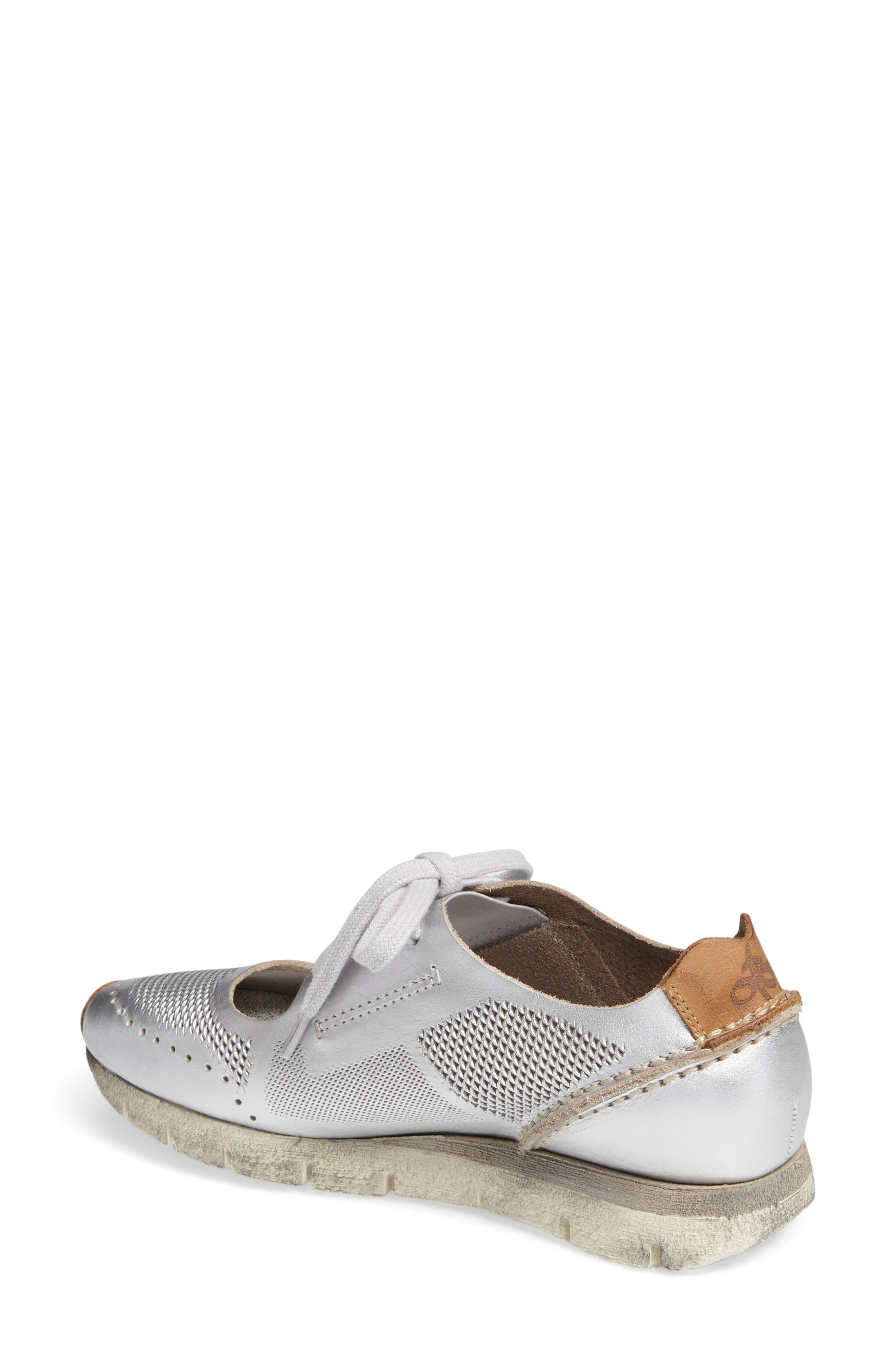 Star Dust Cutout Sneaker,                             Alternate thumbnail 2, color,                             Silver Leather