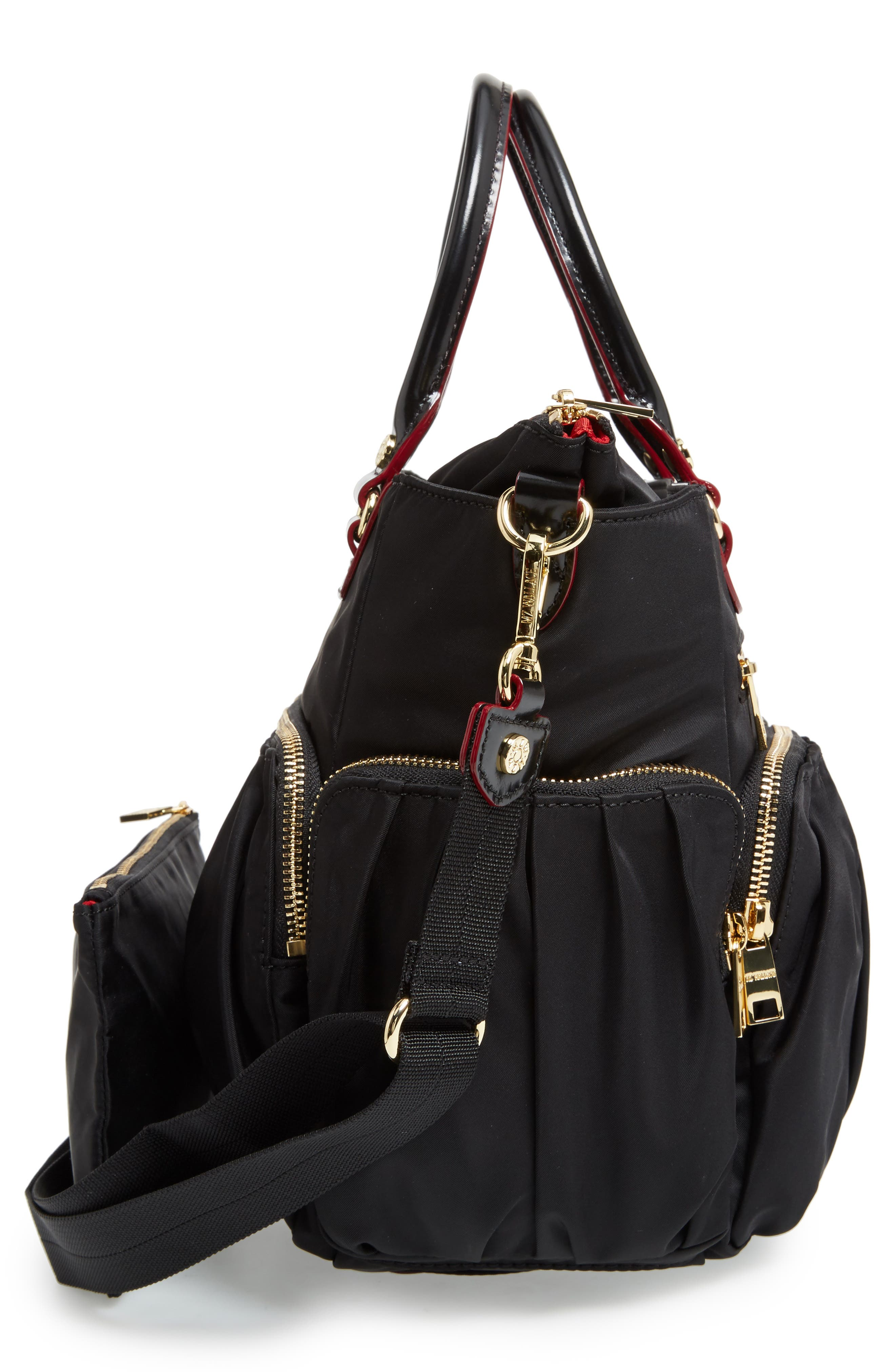 Small Abbey Tote,                             Alternate thumbnail 5, color,                             Black Bedford