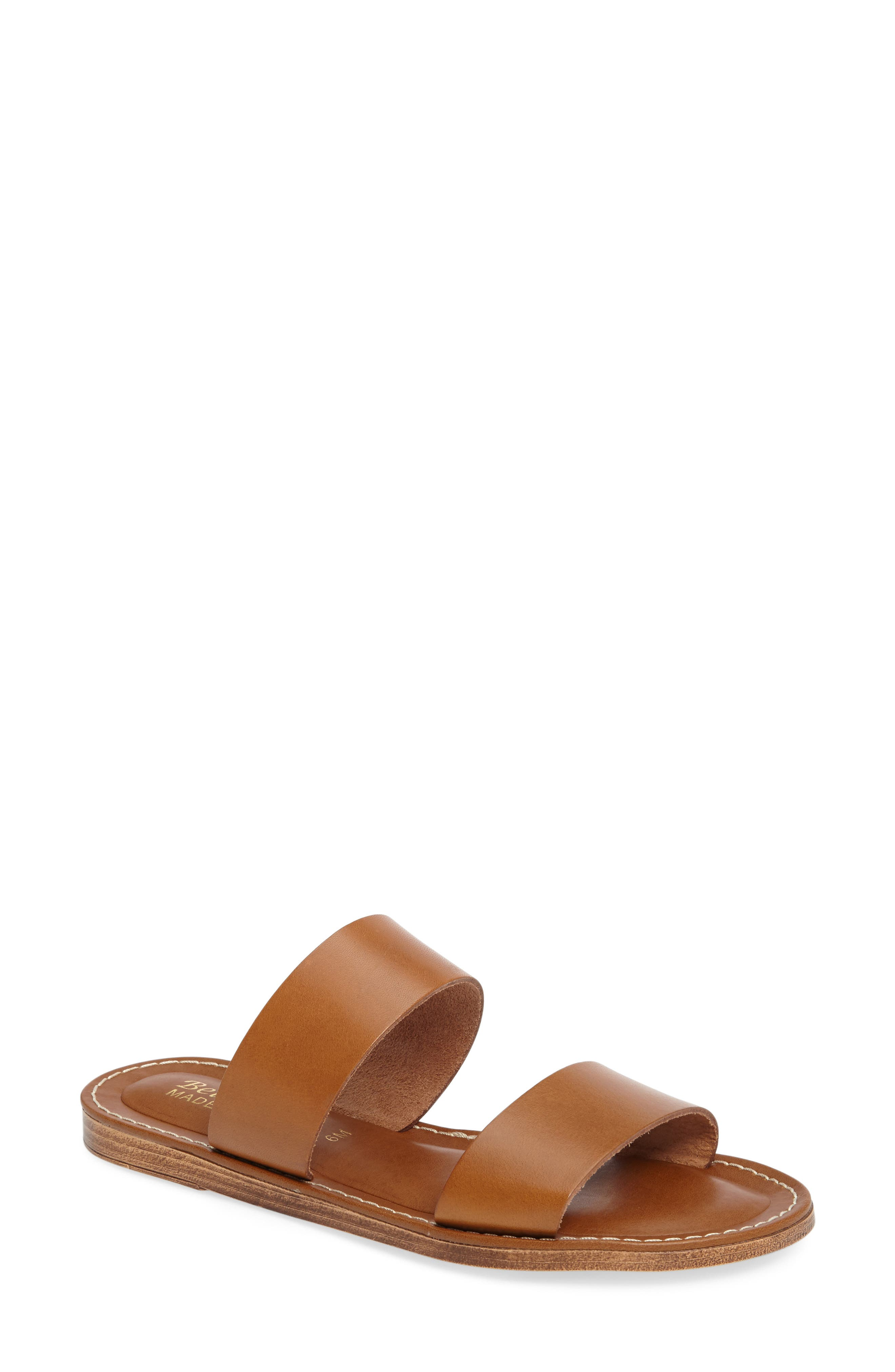 Imo Slide Sandal,                         Main,                         color, Whiskey Leather
