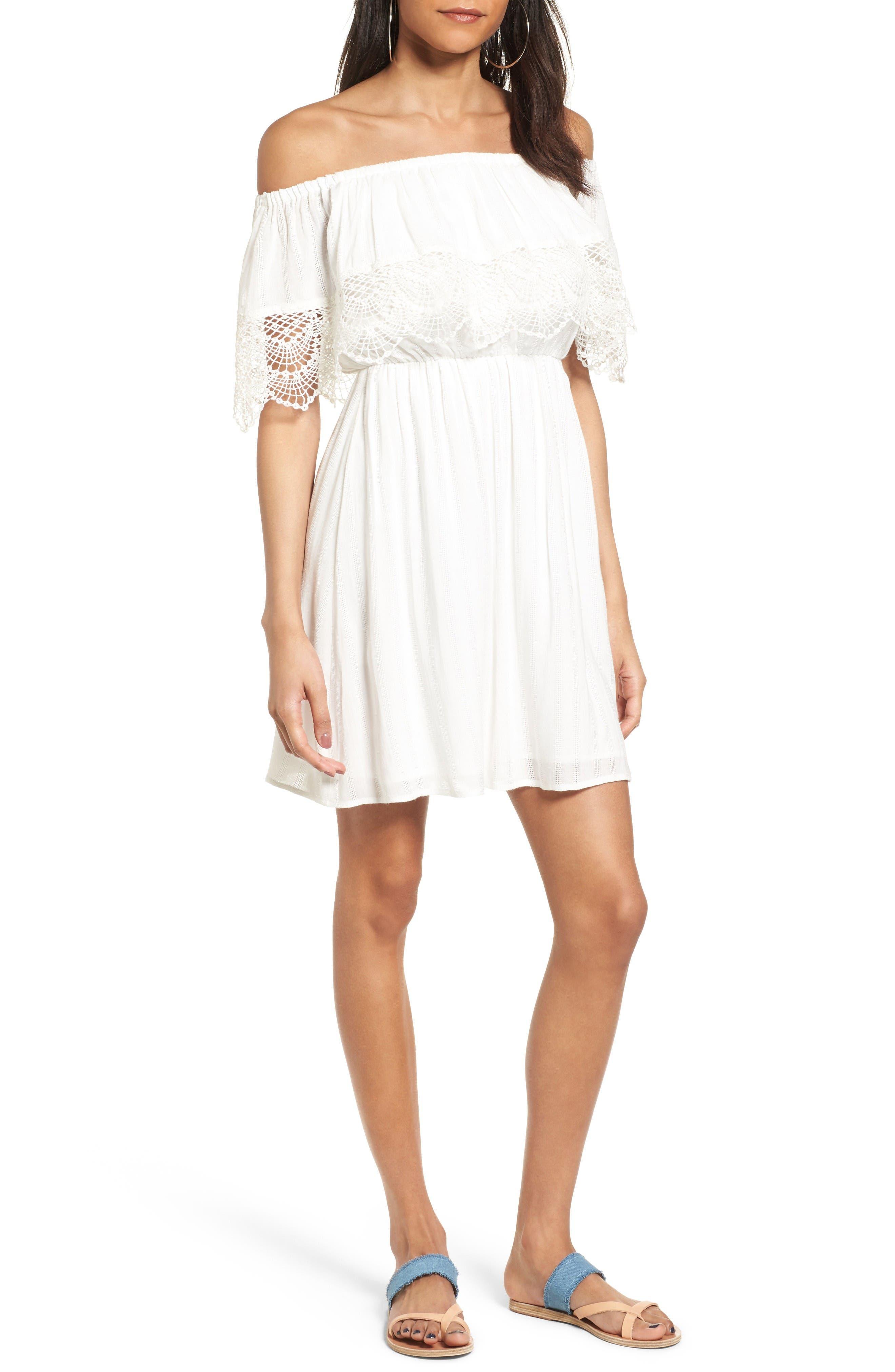 Alternate Image 1 Selected - Off the Shoulder Dress