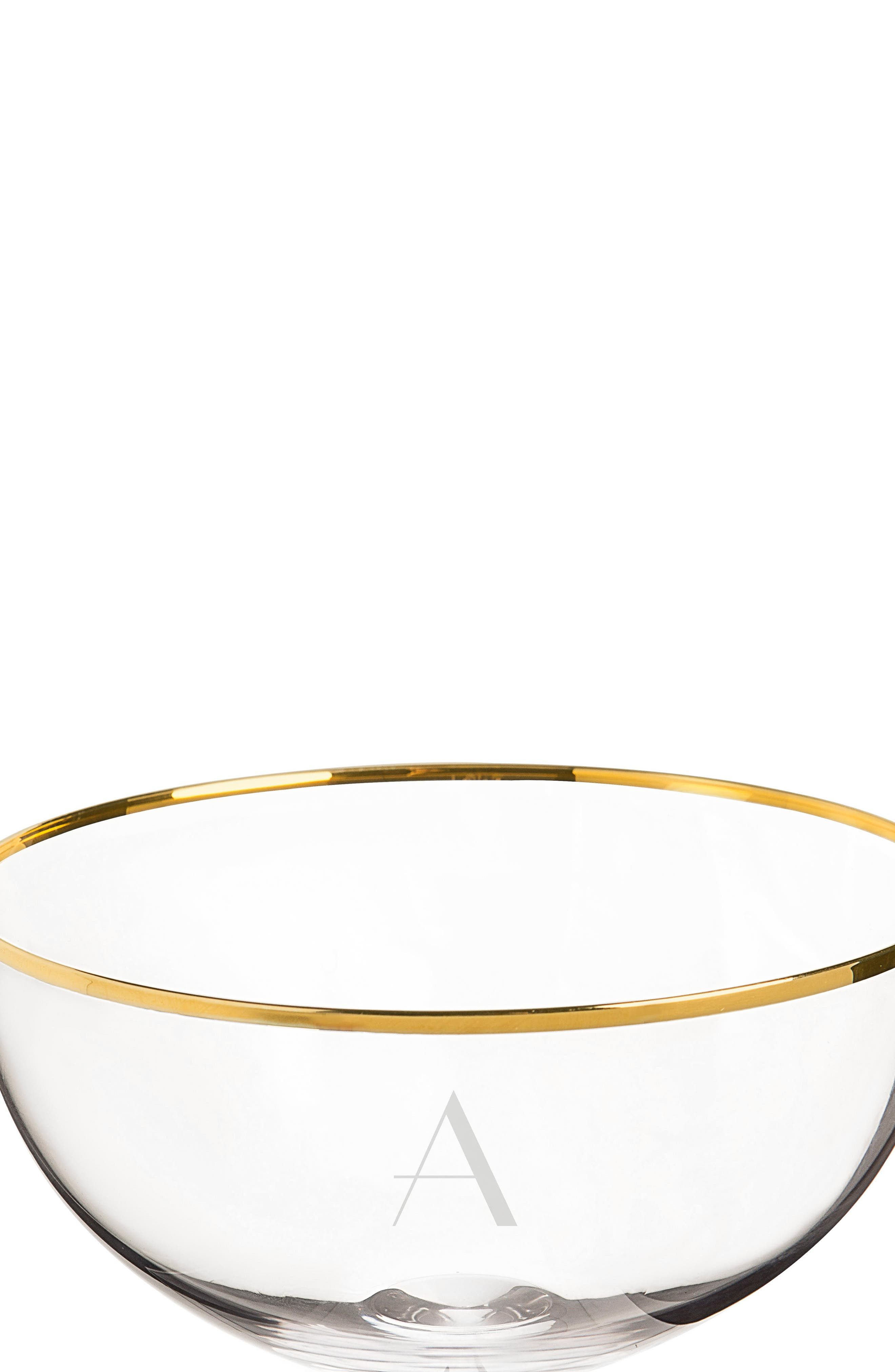 Alternate Image 3  - Cathy's Concepts Set of 2 Gold Rim Monogram Champagne Flutes