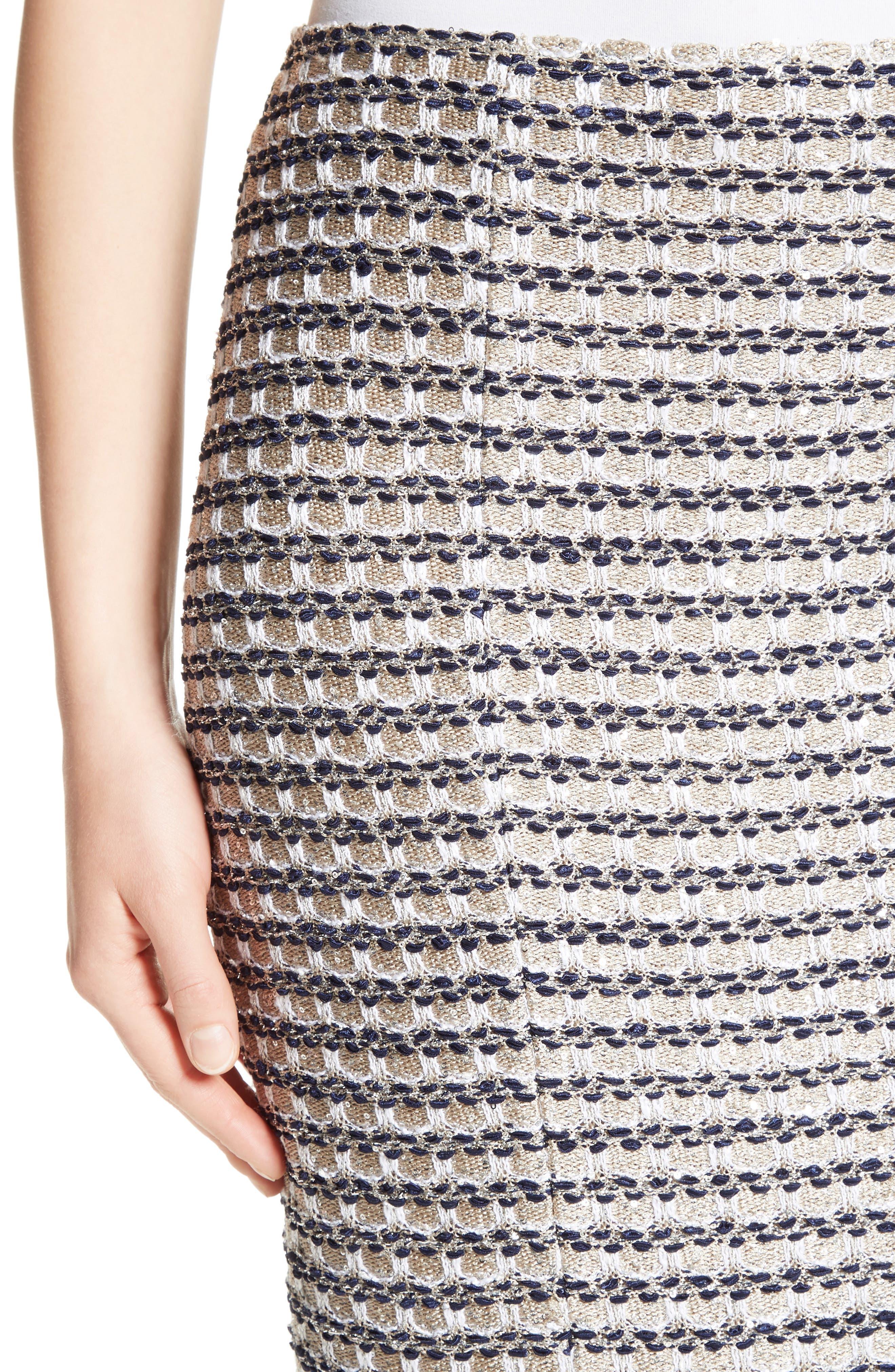 Alternate Image 4  - St. John Collection Vany Tweed Knit Pencil Skirt