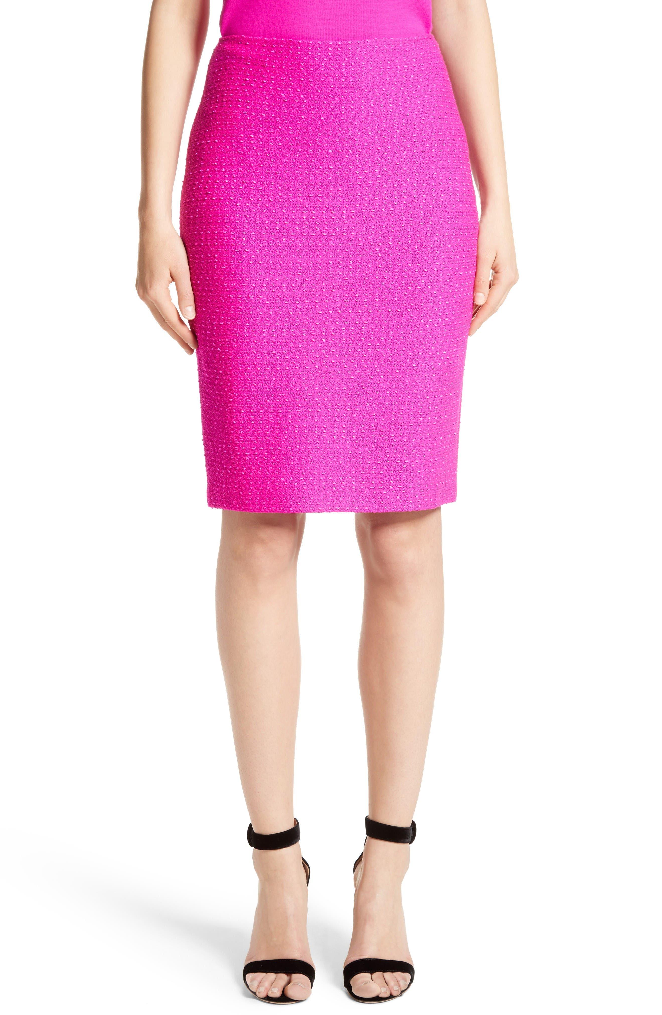 Main Image - St. John Collection Ribbon Texture Knit Skirt